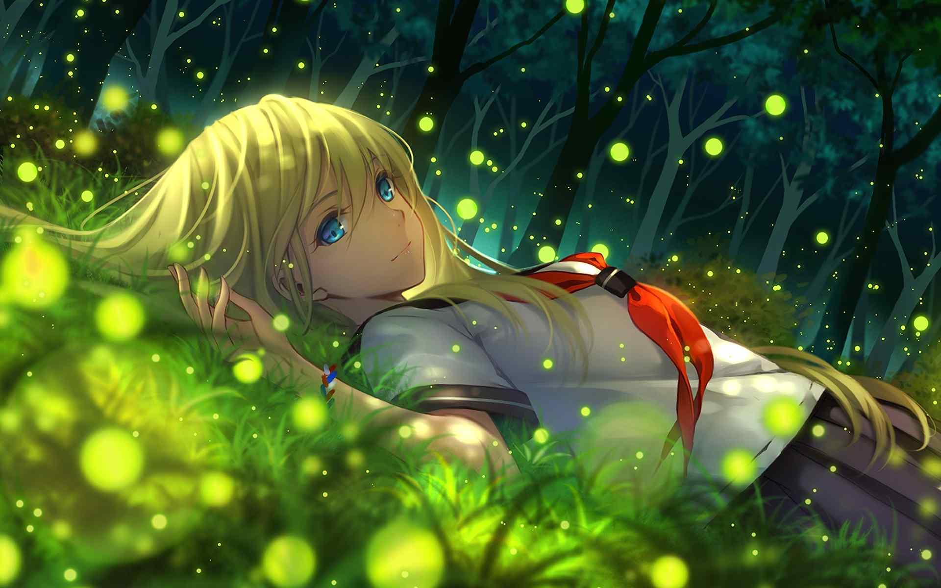 Illustration Anime Grass Green Underwater Jungle Everlasting Summer Girl Screenshot Habitat Natural Environment Computer Wallpaper