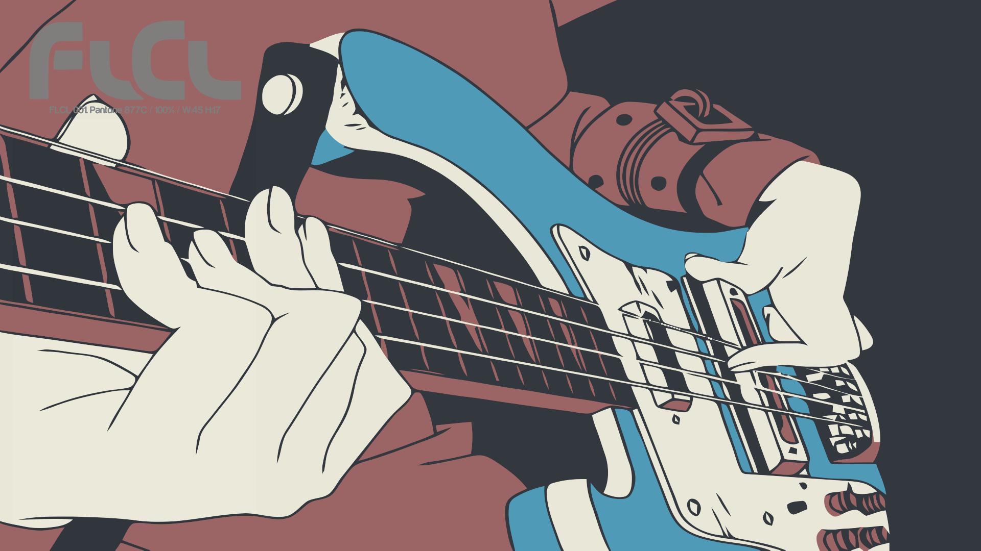Wallpaper illustration anime musical instrument - Flcl wallpaper ...