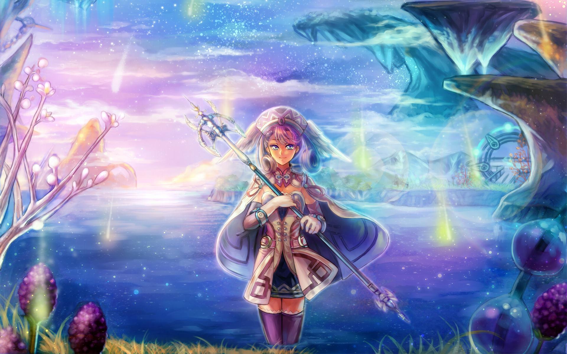 デスクトップ壁紙 図 アニメ 湖 岩 神話 ゼノブレイド