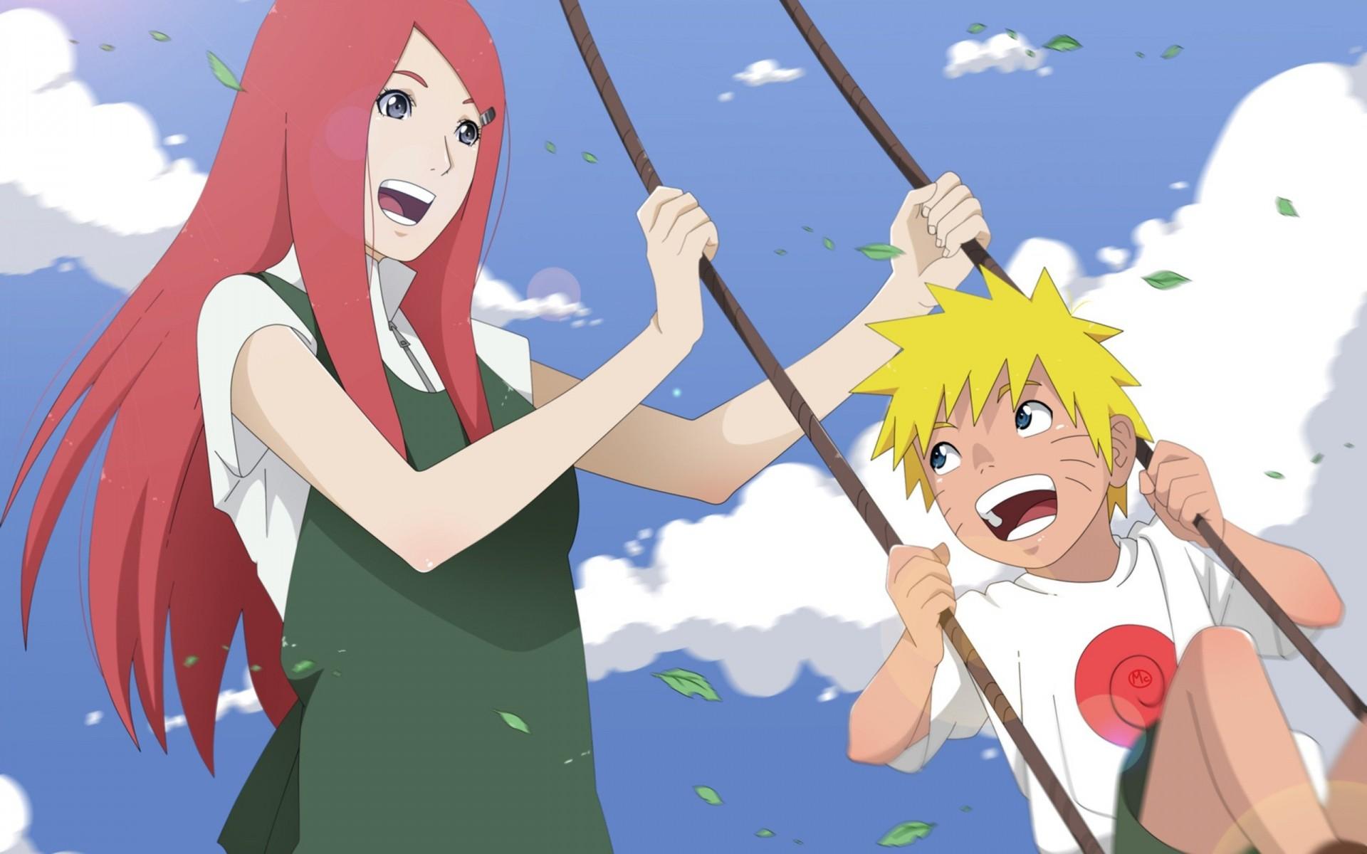 Wallpaper Ilustrasi Anime Manga Gambar Kartun Naruto Shippuuden Uzumaki Ayunan