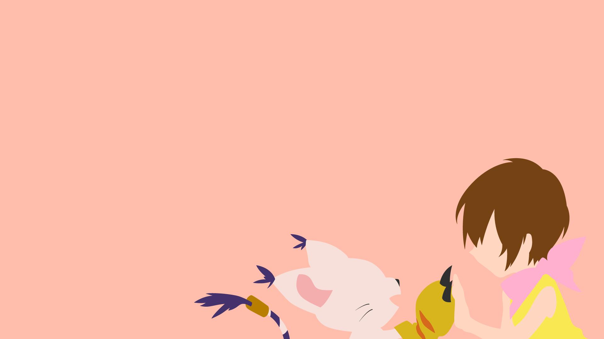Wallpaper Ilustrasi Anime Minimalis Digimon Gambar Kartun
