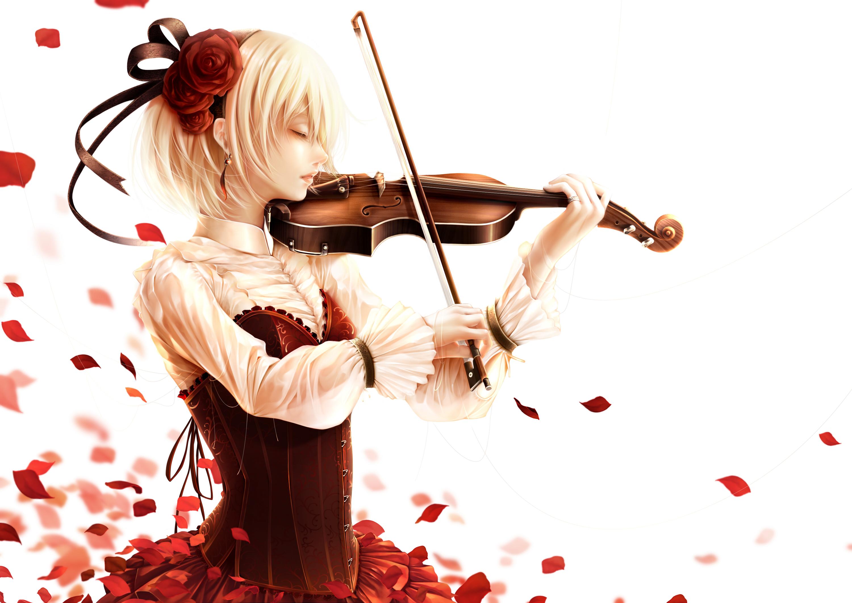 Wallpaper : illustration, anime, musical instrument ...