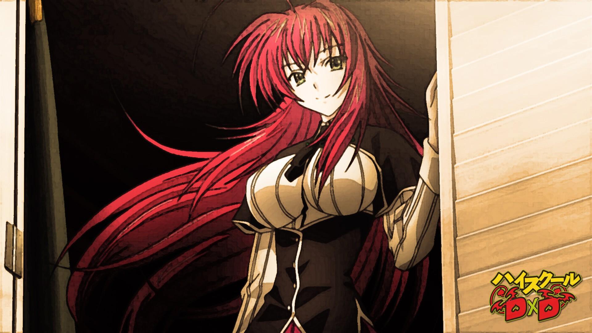 illustration anime red Gremory Rias comics High School DxD mangaka