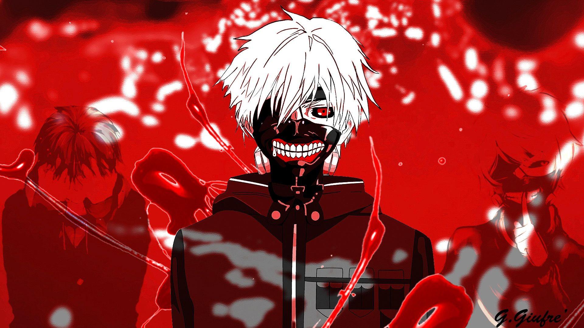 Sfondi Illustrazione Anime Rosso Kaneki Ken Tokyo Ghoul Immagine Dello Schermo Sfondo Del Computer 1920x1080 Wallpapermaniac 138900 Sfondi Gratis Wallhere
