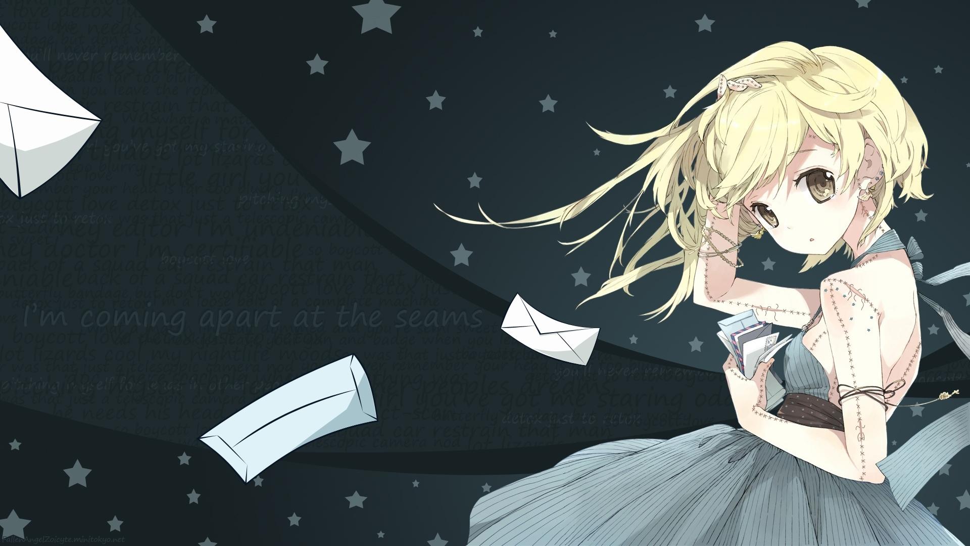 Illustration Anime Stars Dress Cartoon Writing Girl Piercings Screenshot Mangaka