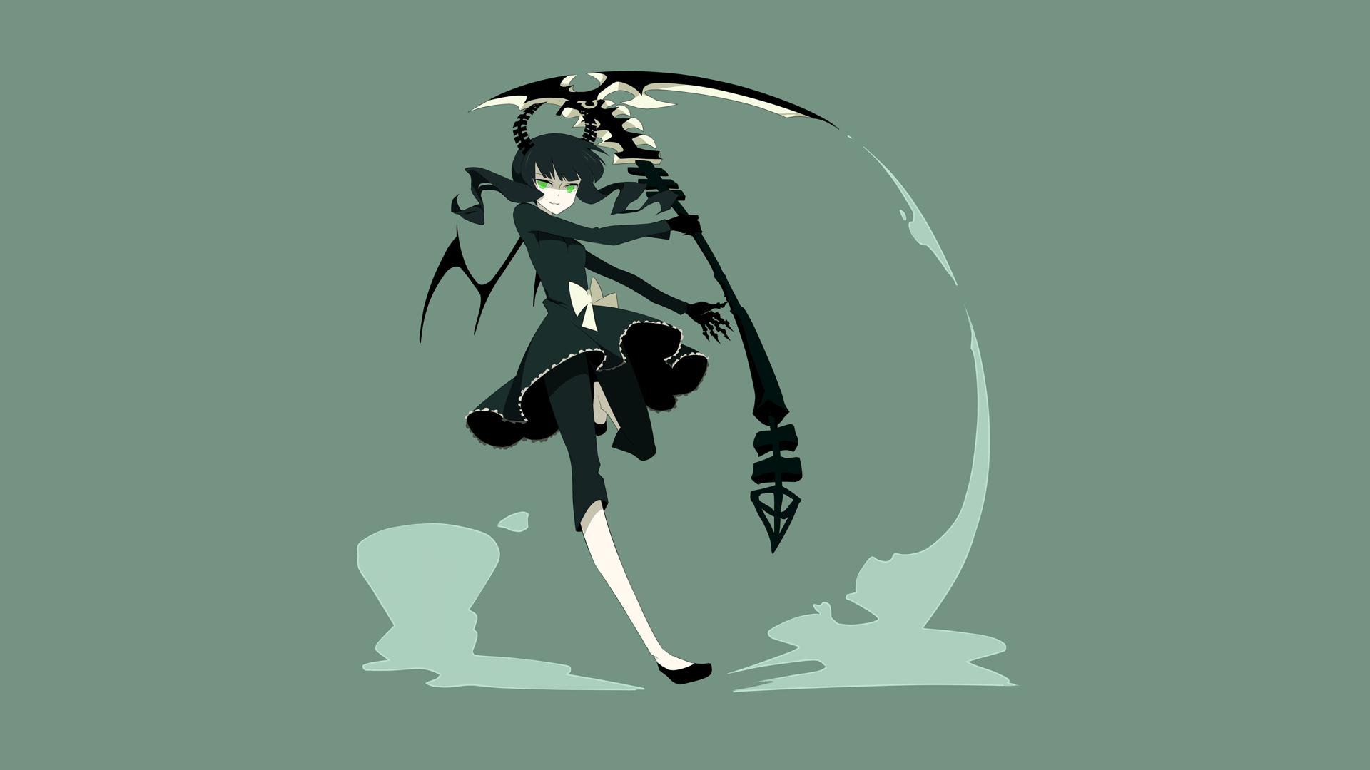 Wallpaper illustration anime wings green eyes - Anime scythe wallpaper ...