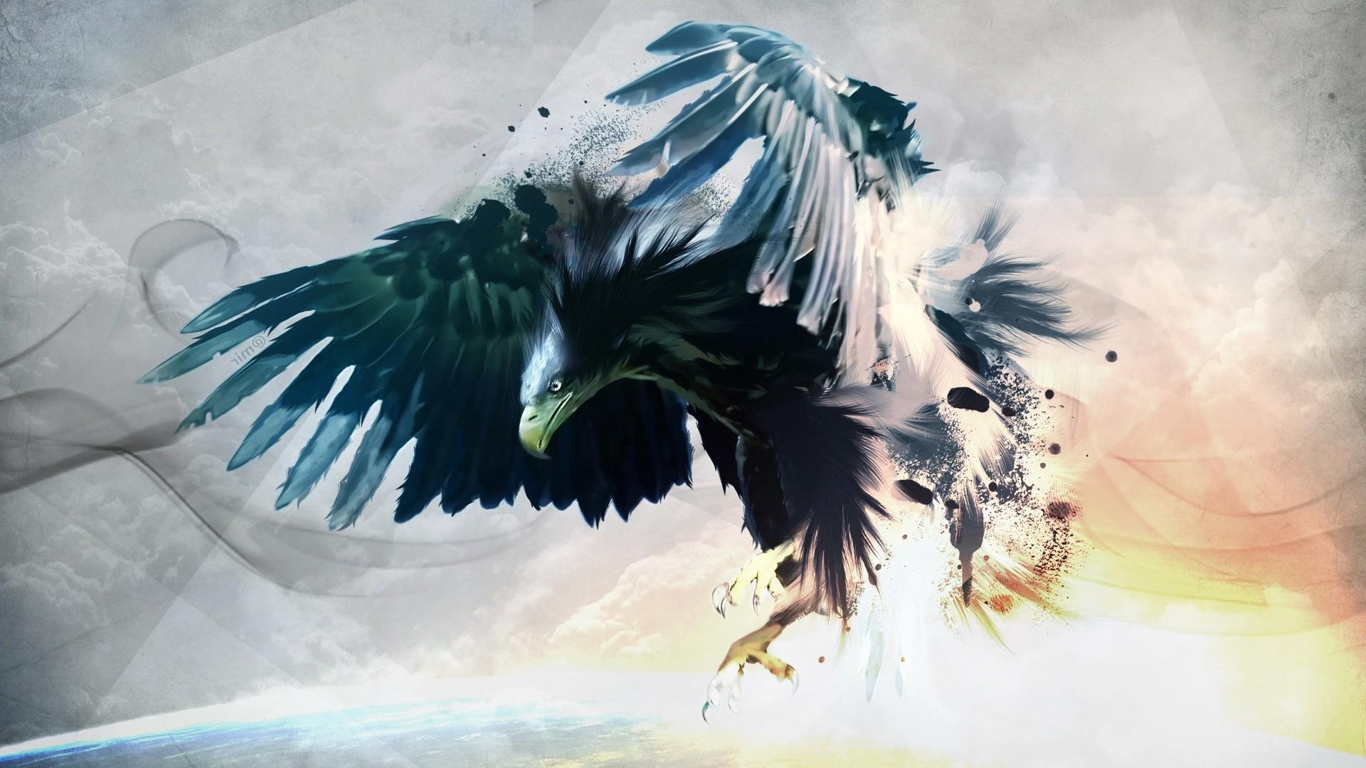wallpaper illustration birds anime artwork paint