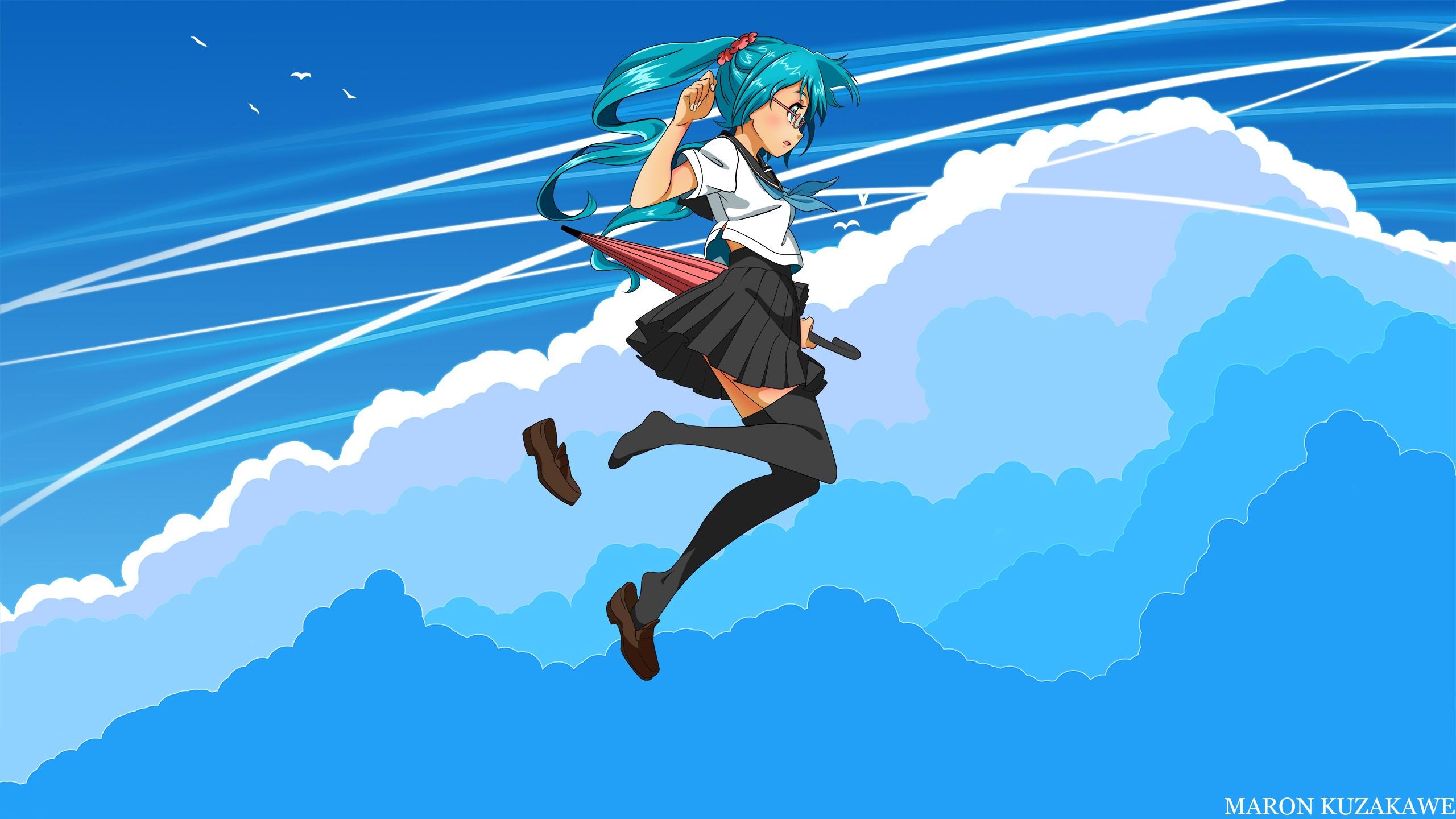 Аниме картинки прыгаю