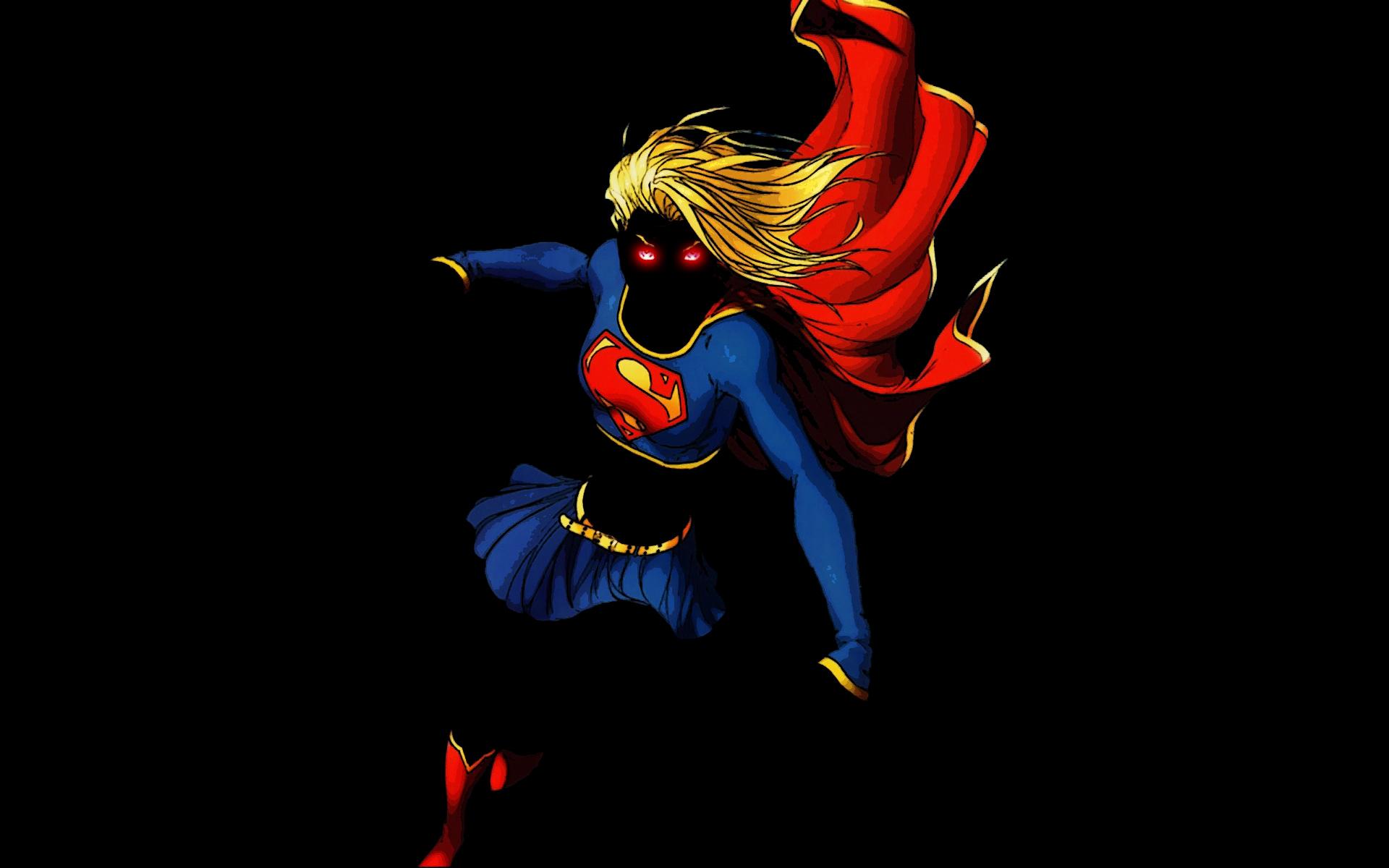 Illustration Black Background Minimalism Superhero DC Comics Superheroines Supergirl Computer Wallpaper Fictional Character