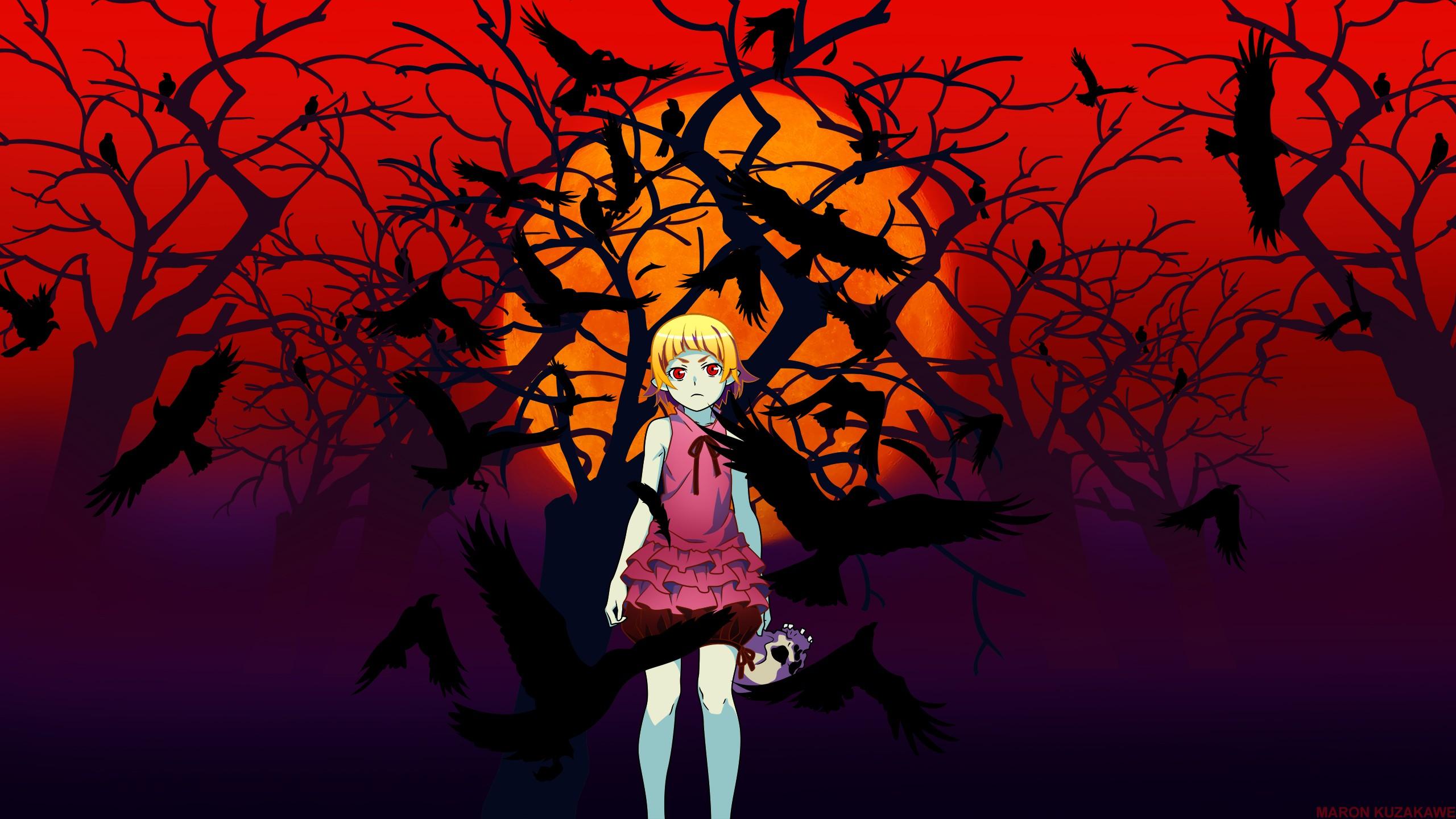 デスクトップ壁紙 図 ブロンド 物語シリーズ アニメの女の子
