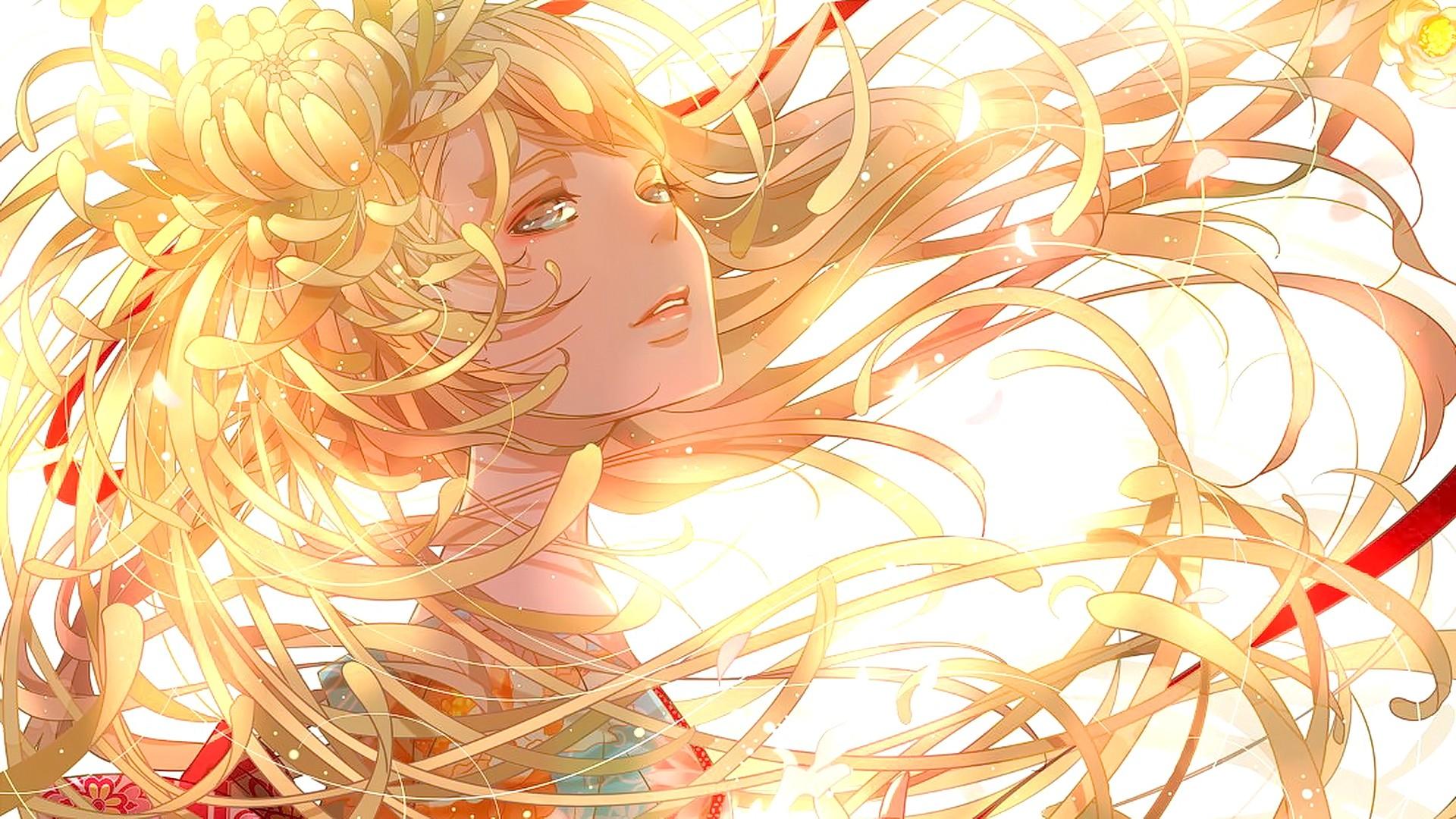 Wallpaper Illustration Blonde Anime Girls Original Characters Hair Mangaka 1920x1080 Consistenthypocrite 65752 Hd Wallpapers Wallhere