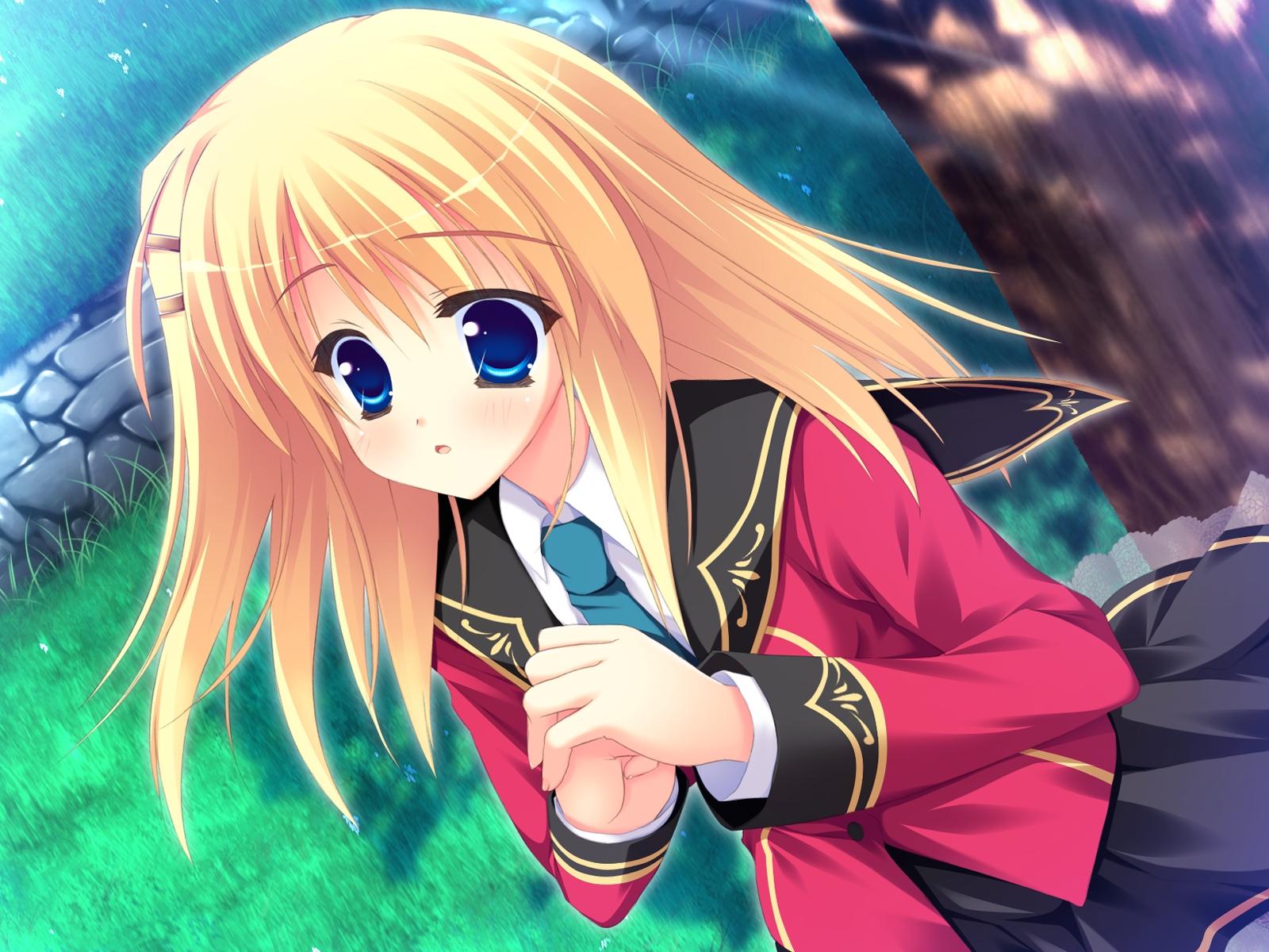 Фото аниме девушка блондинка