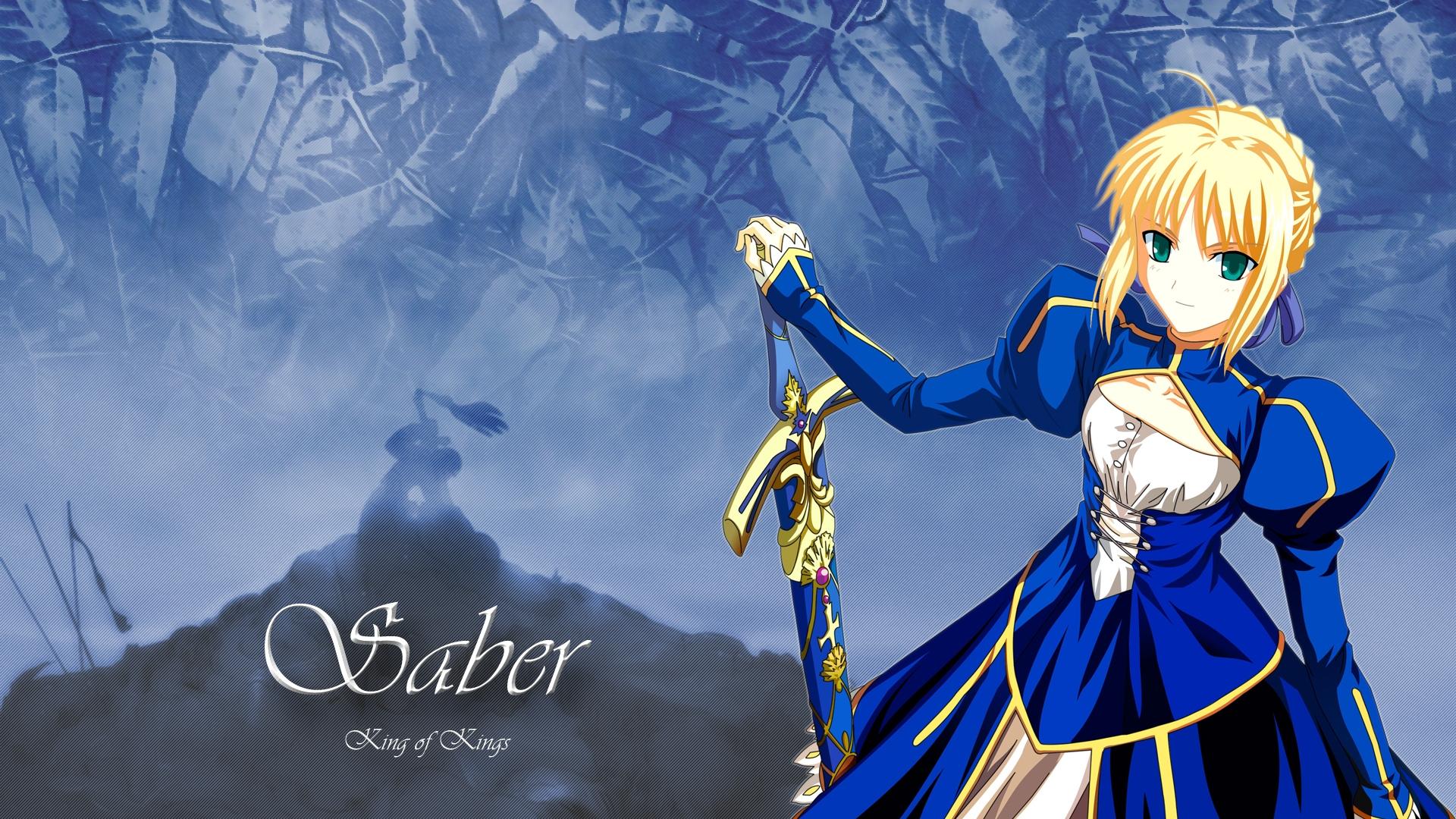 Wallpaper : illustration, blonde, anime, dress, sword, cute