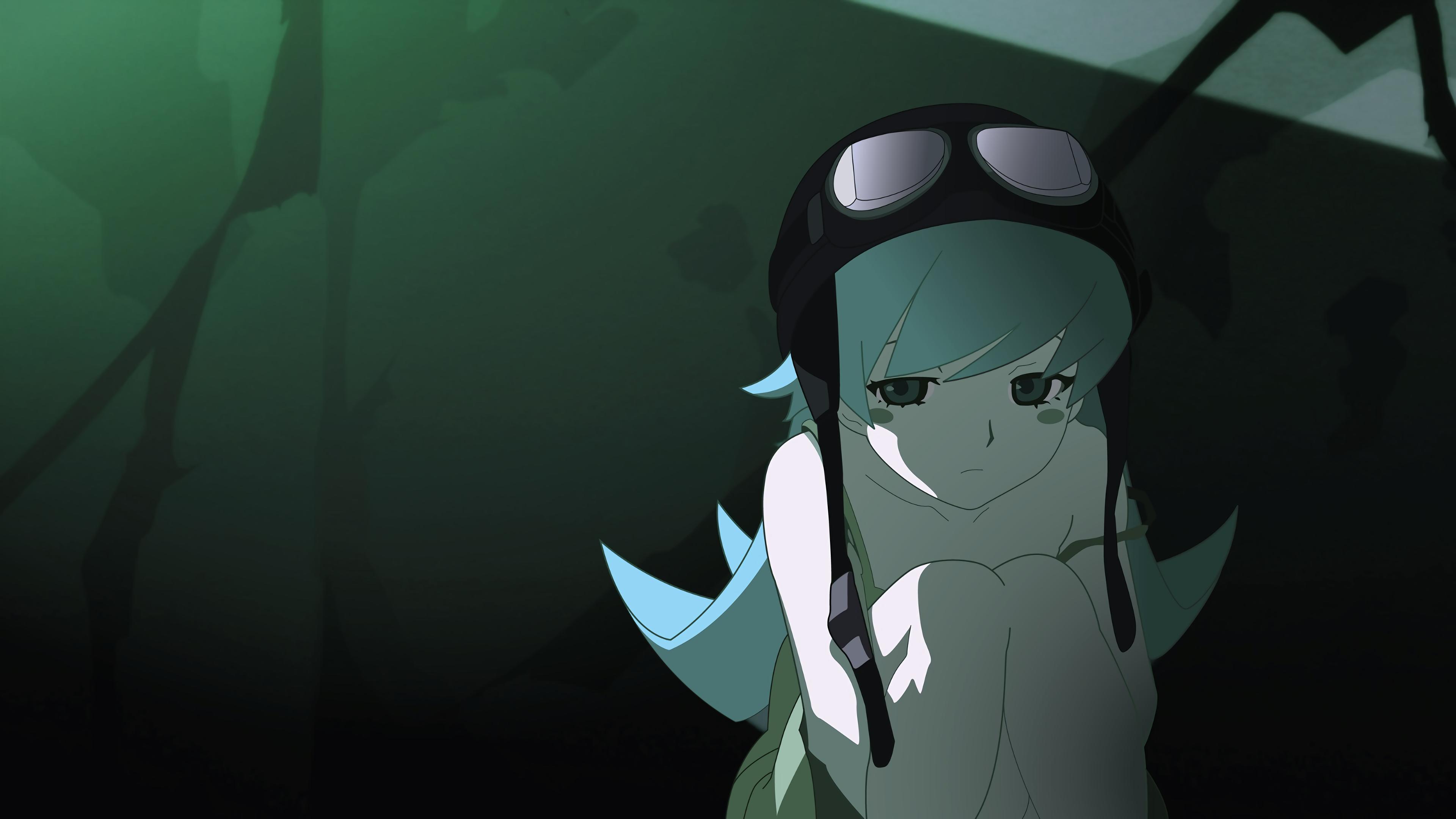 デスクトップ壁紙 図 ブロンド 長い髪 物語シリーズ アニメの