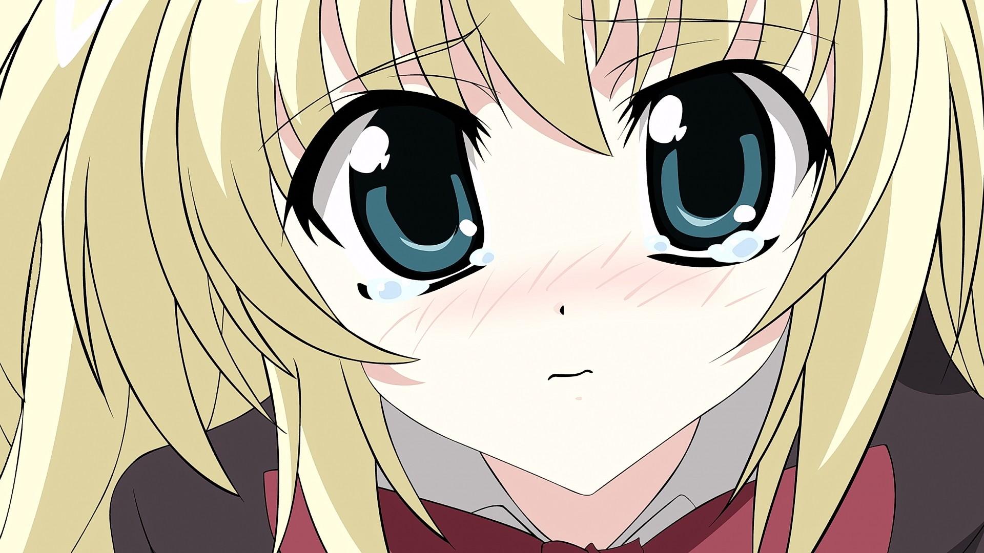 Fondos De Pantalla Ilustracion Rubia Pelo Largo Anime Chicas