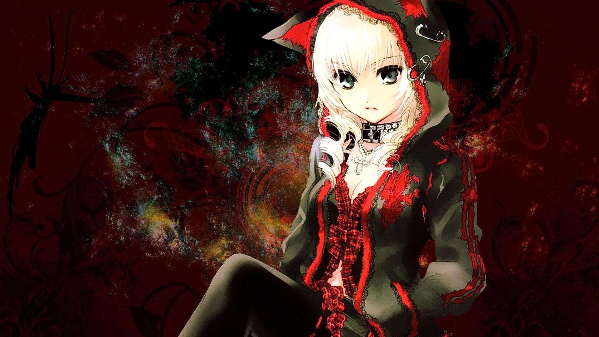 Фото аниме девушка в капюшоне с