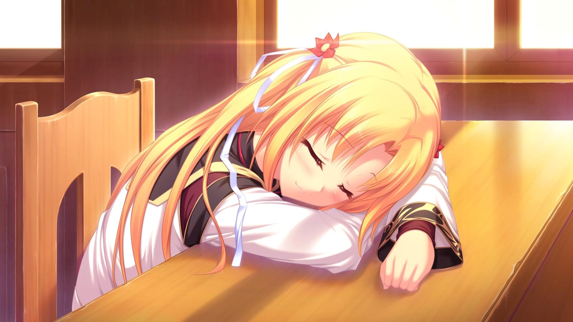 Аниме картинки девушек спят