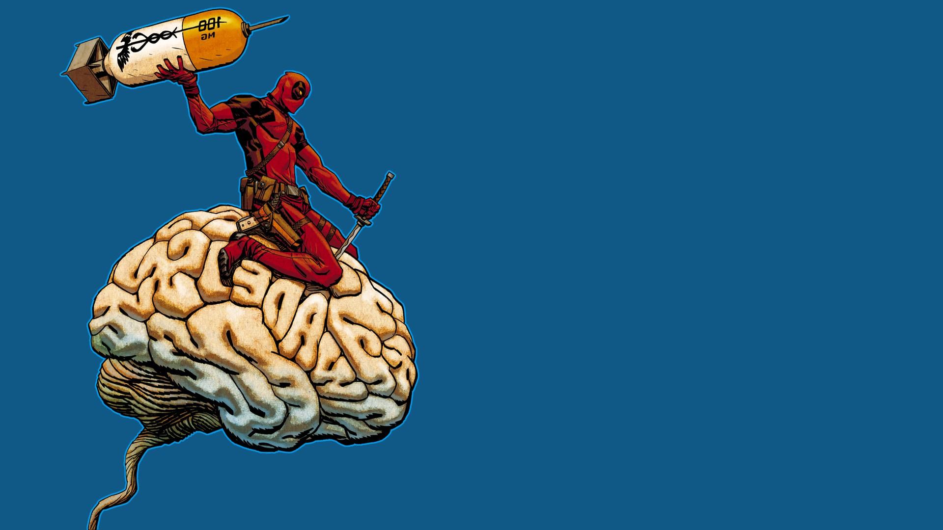 Wallpaper Illustration Brain Deadpool Comic Art Art 1920x1080 Px Computer Wallpaper Human Body Fictional Character Organ Organism Neurologist 1920x1080 Wallpaperup 781775 Hd Wallpapers Wallhere