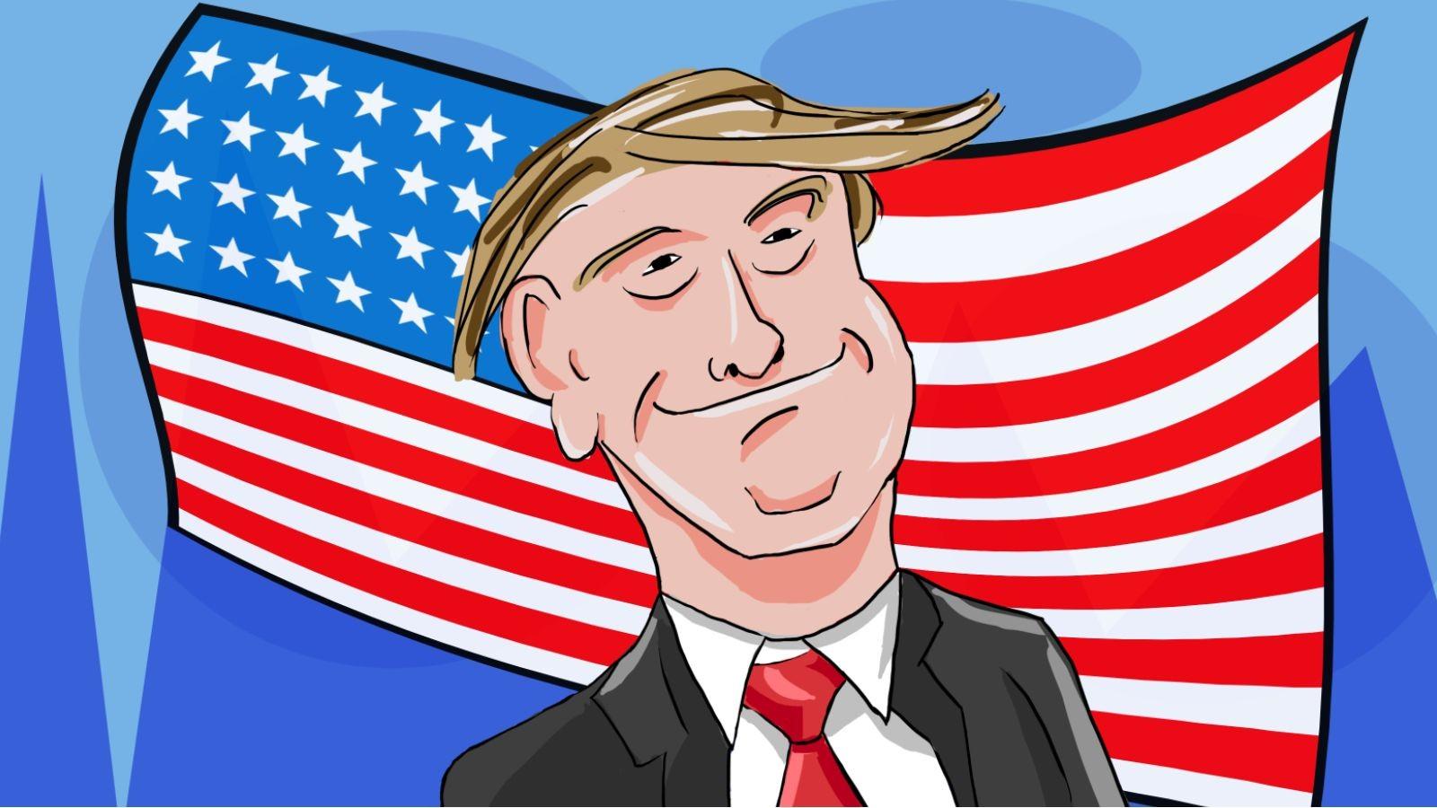 Papel De Parede Ilustracao Desenho Animado Donald Trump
