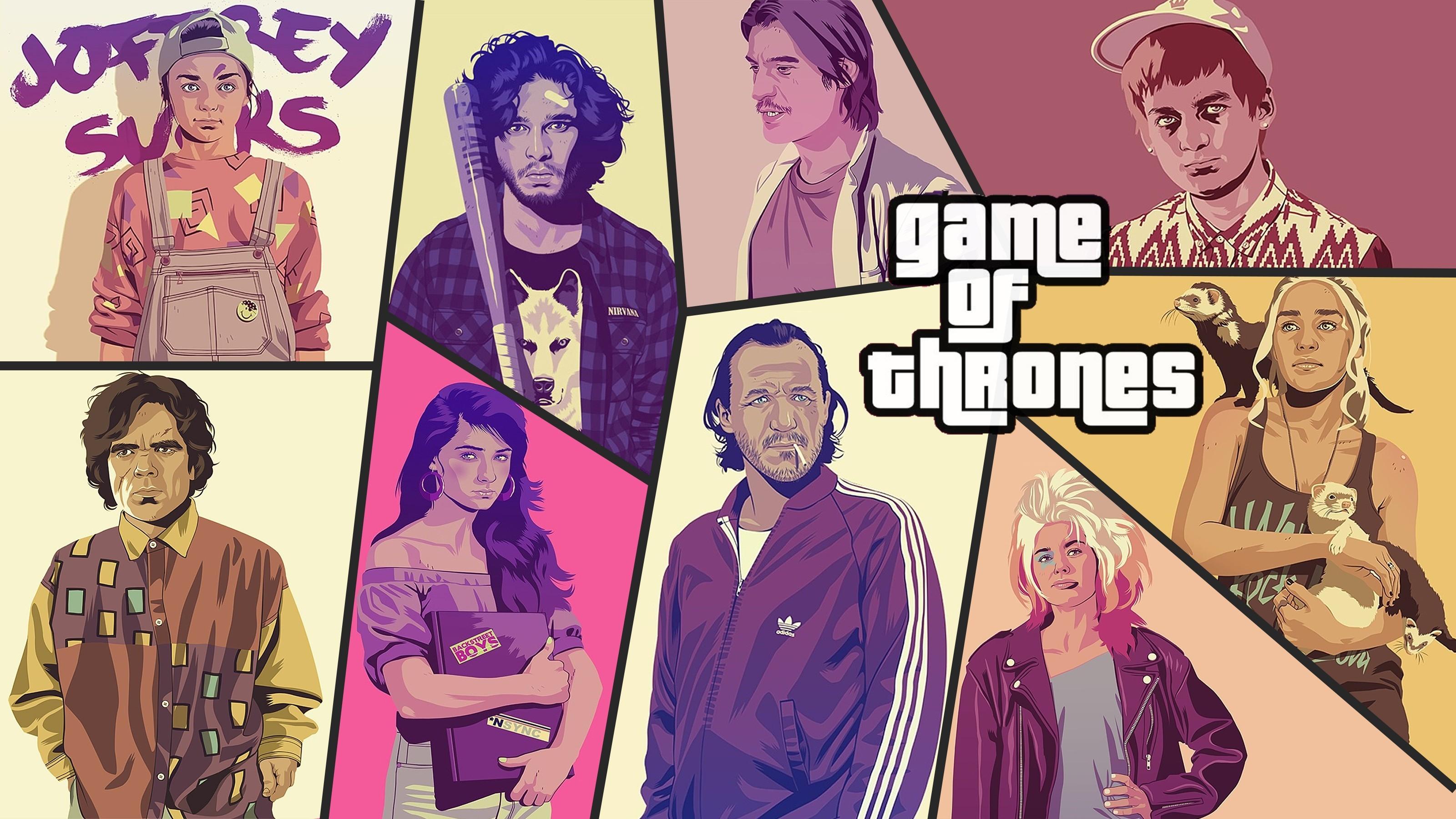 Wallpaper Illustration Cartoon Game Of Thrones Comics Jon