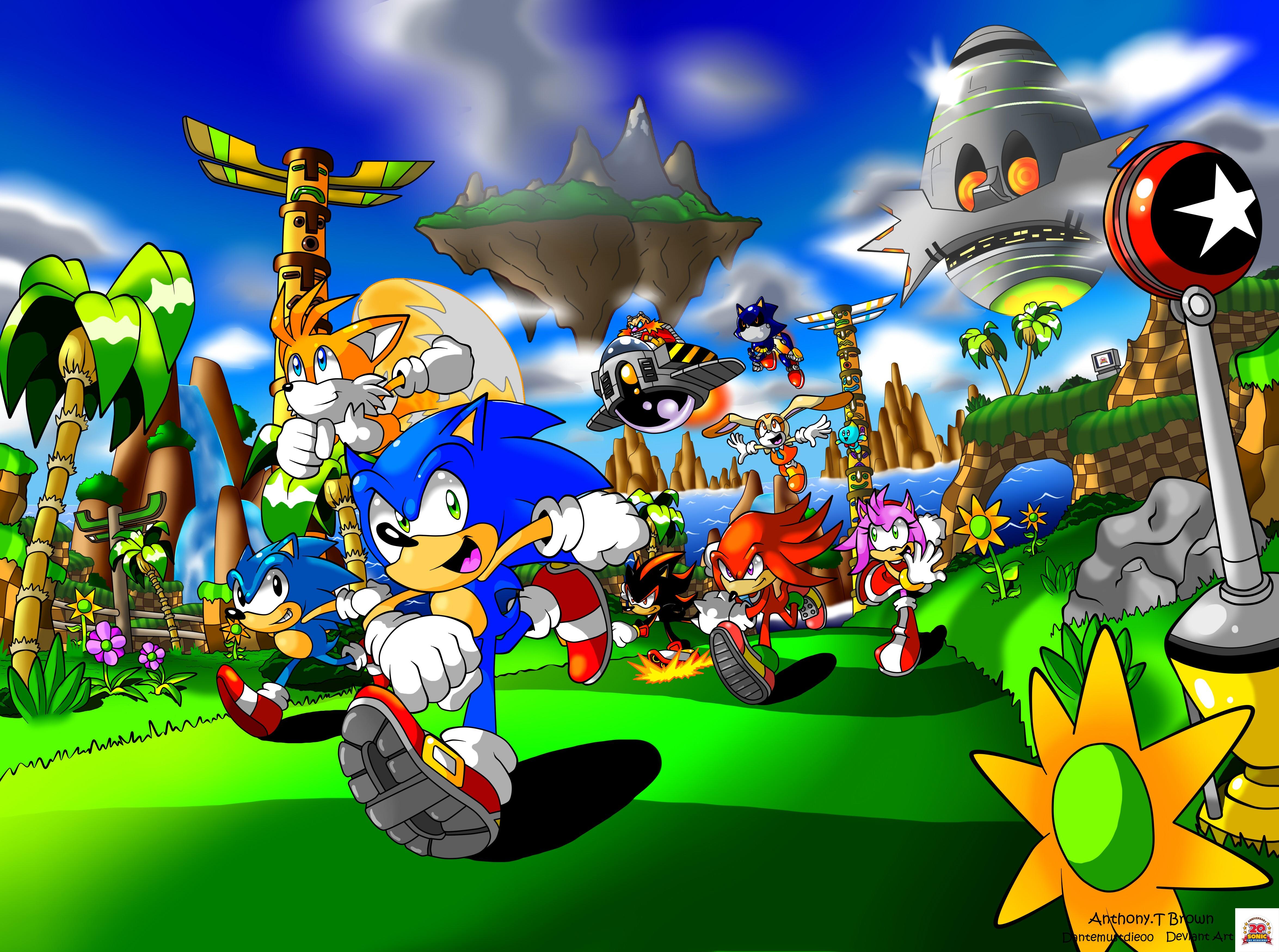 Wallpaper Illustration Cartoon Sonic The Hedgehog Jungle