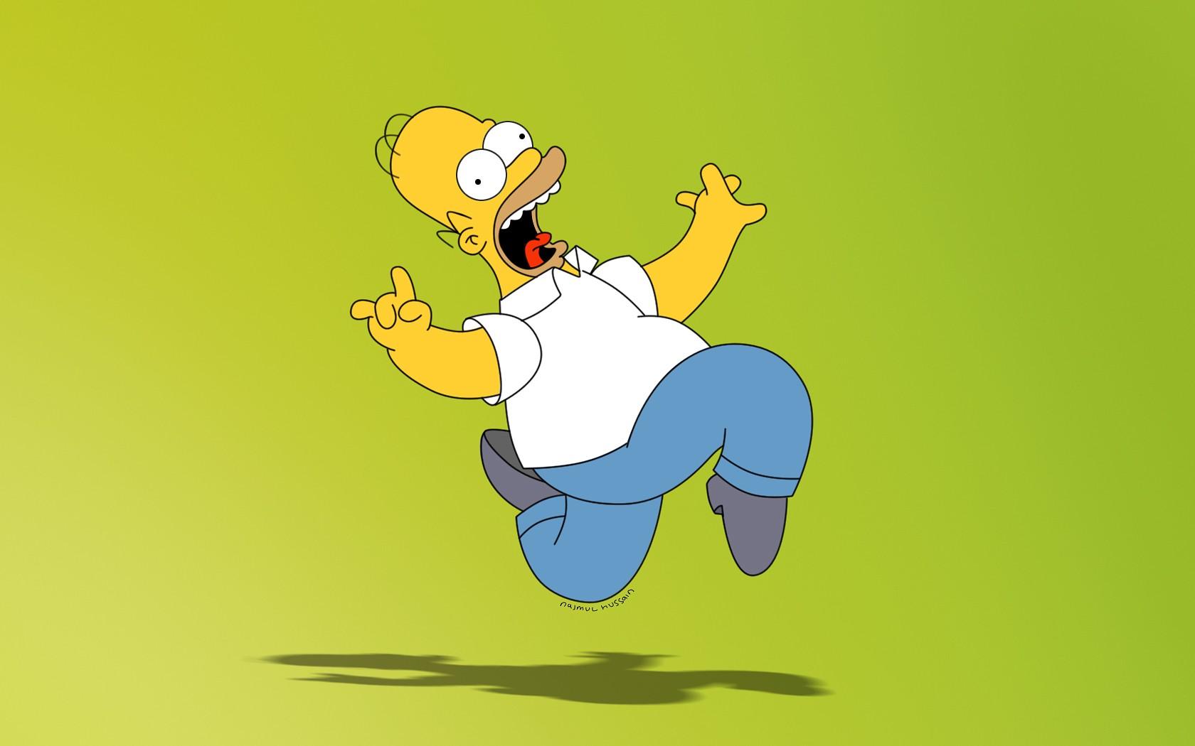 Sfondi illustrazione cartone animato i simpson homer