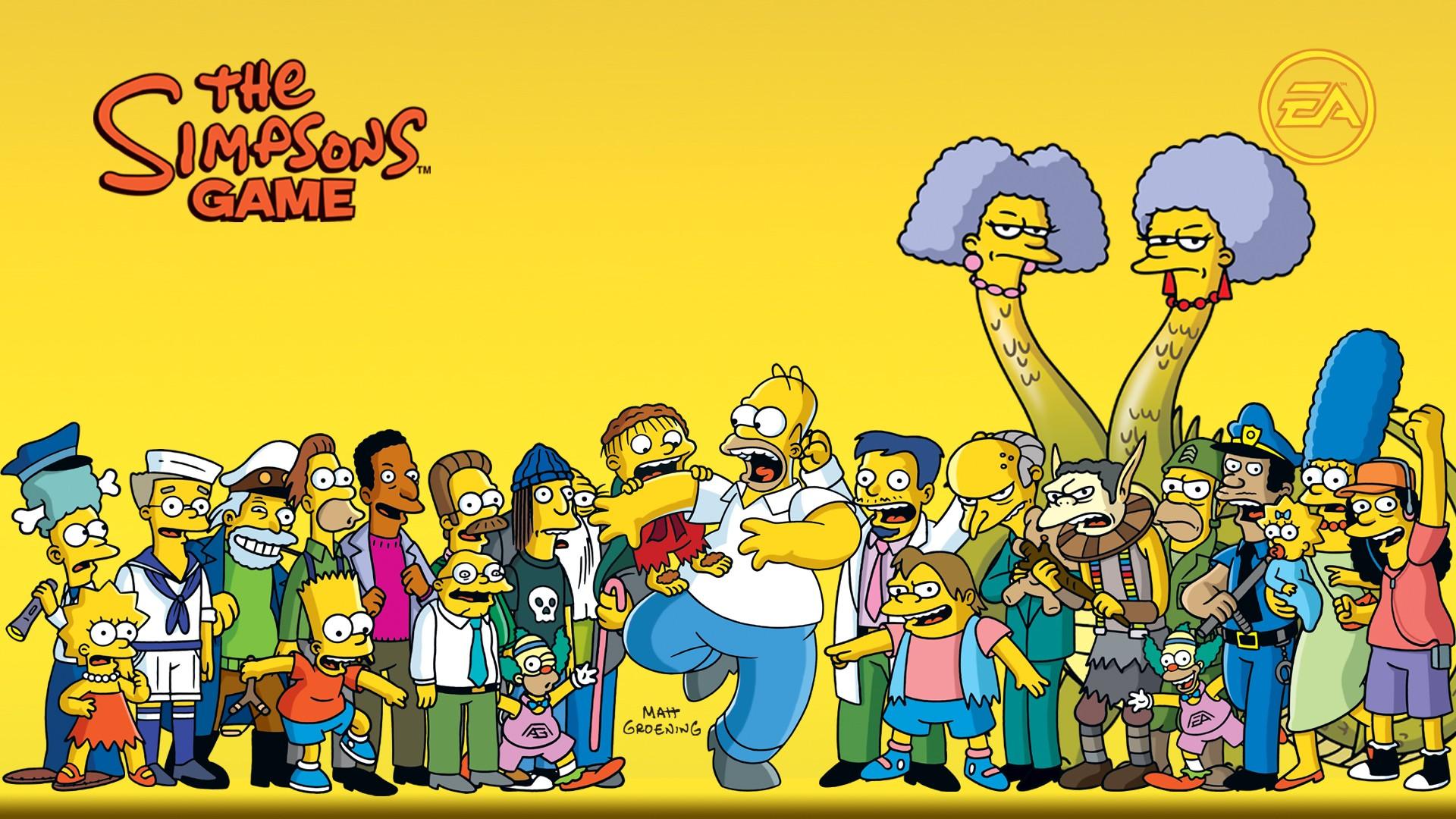 Ilustrasi gambar kartun simpsons homer simpson bart simpson marge simpson lisa simpson maggie simpson bermain montgomery
