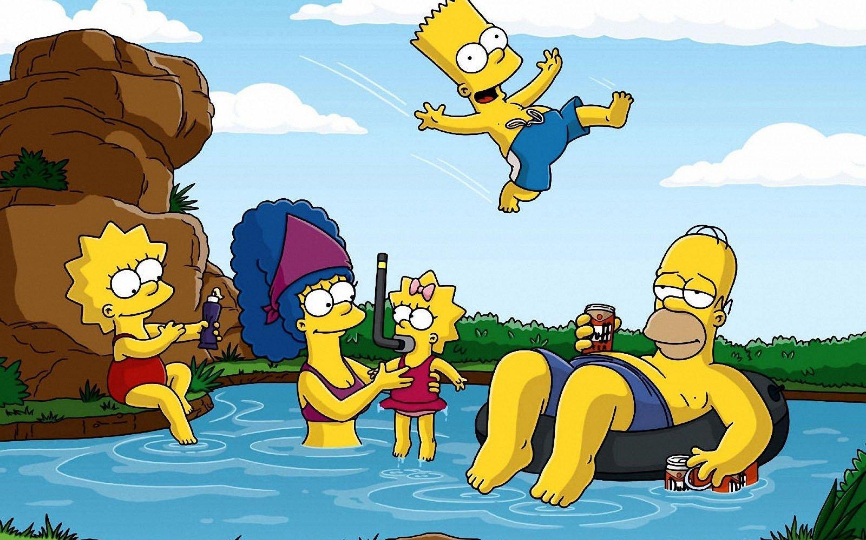 Sfondi illustrazione cartone animato i simpson homer simpson