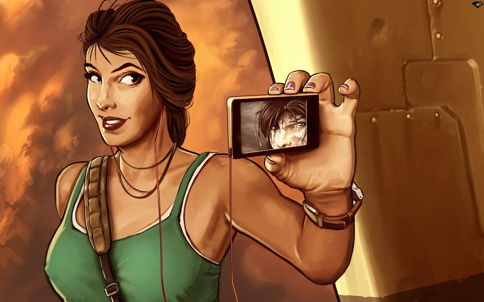 a3649fb669 ilustração desenho animado histórias em quadrinhos Lara Croft Tomb Raider  Pessoa Tiro de si mesmo Auto