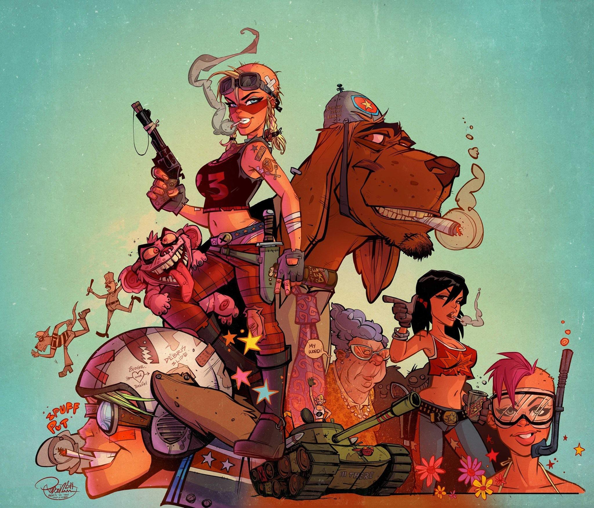 Wallpaper Illustration Cartoon Comics Mythology Tank Girl