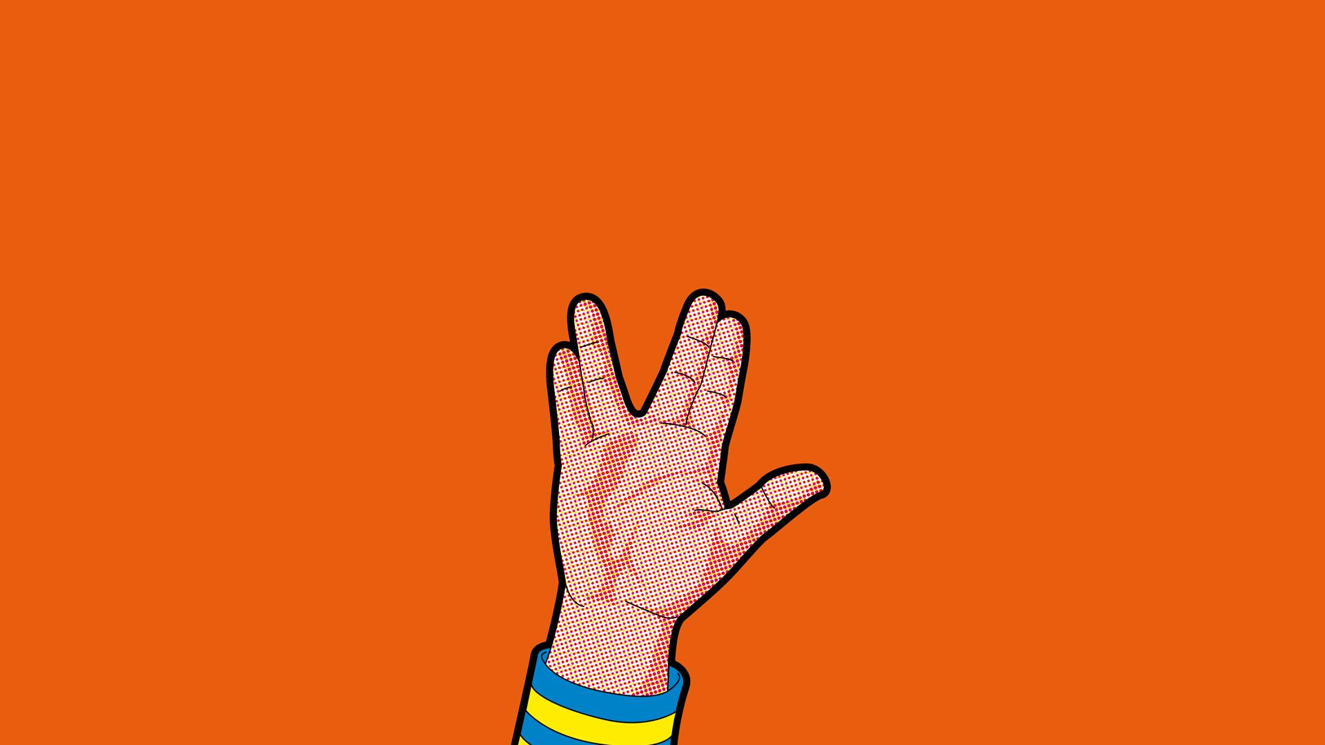 Illustration Cartoon Science Fiction Star Trek Live Long And Prosper Spock Hand Finger Arm Font Organ