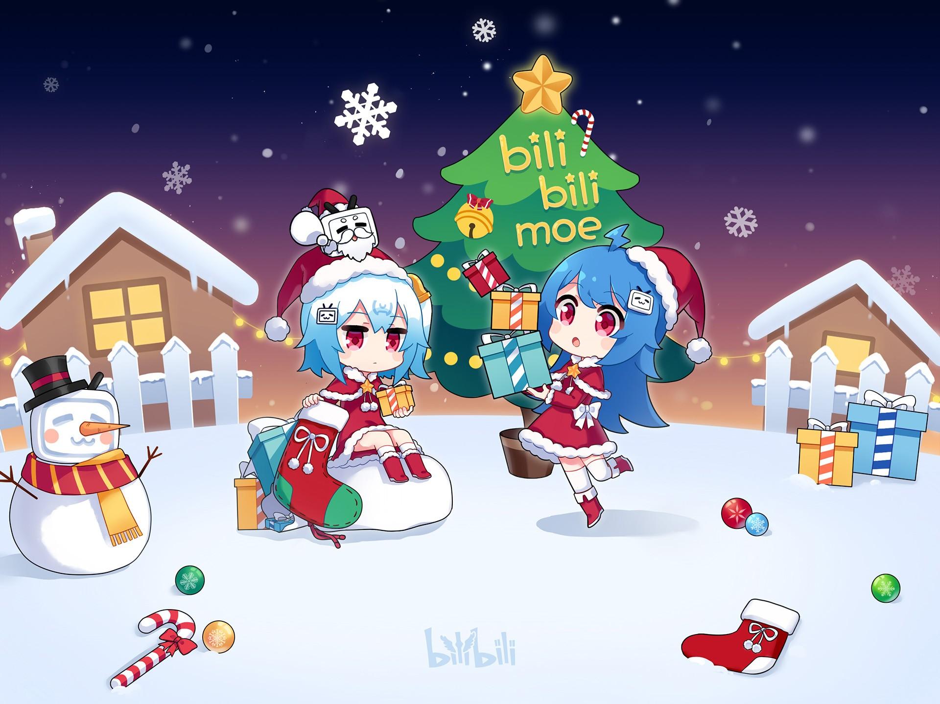 Fondos de pantalla ilustraci n dibujos animados - Papa noel decoracion navidena ...