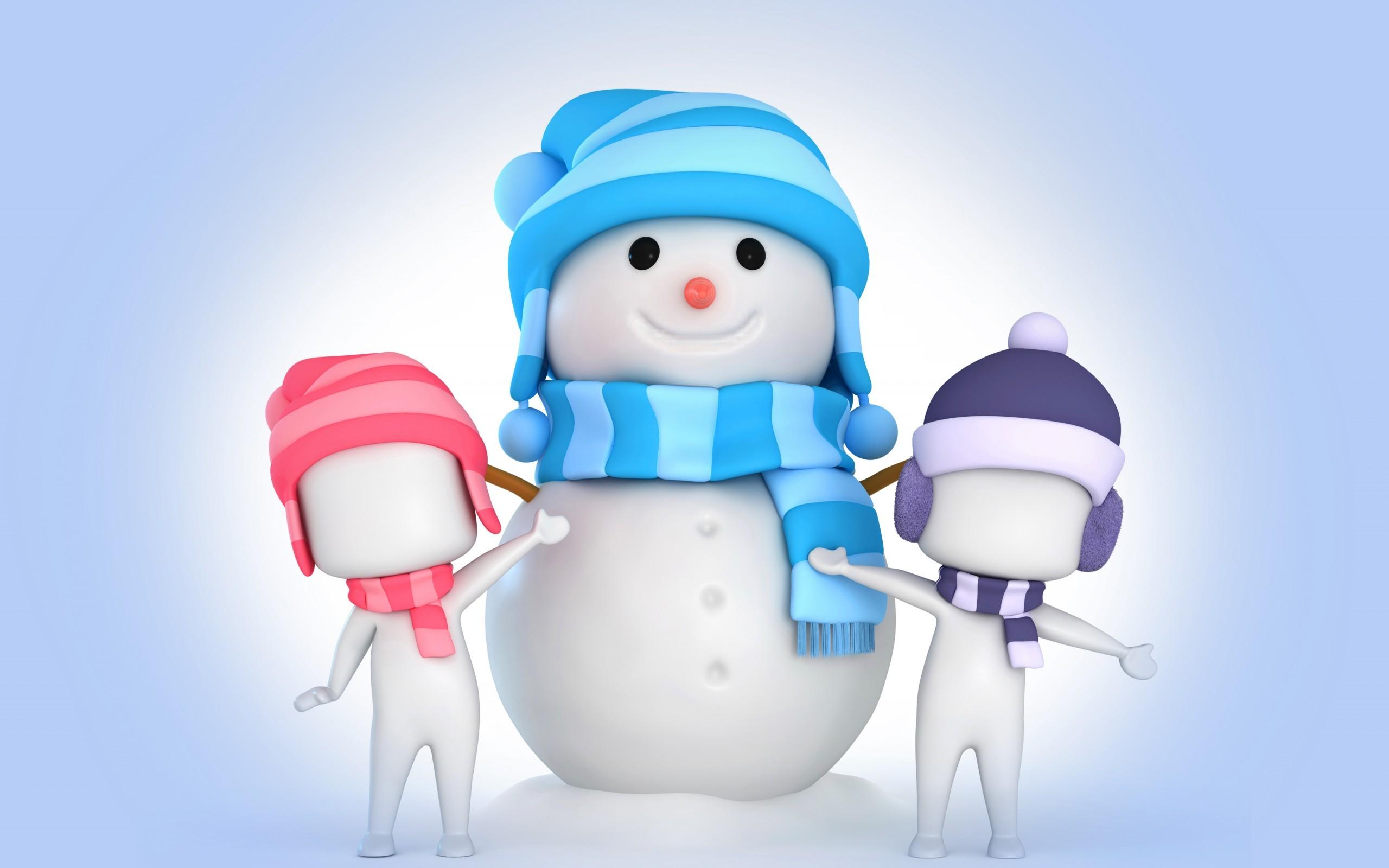 Wallpaper Ilustrasi Gambar Kartun Orang Orangan Salju