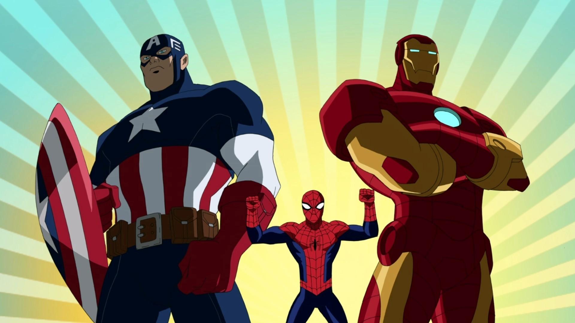 Sfondi illustrazione cartone animato supereroe uomo di ferro