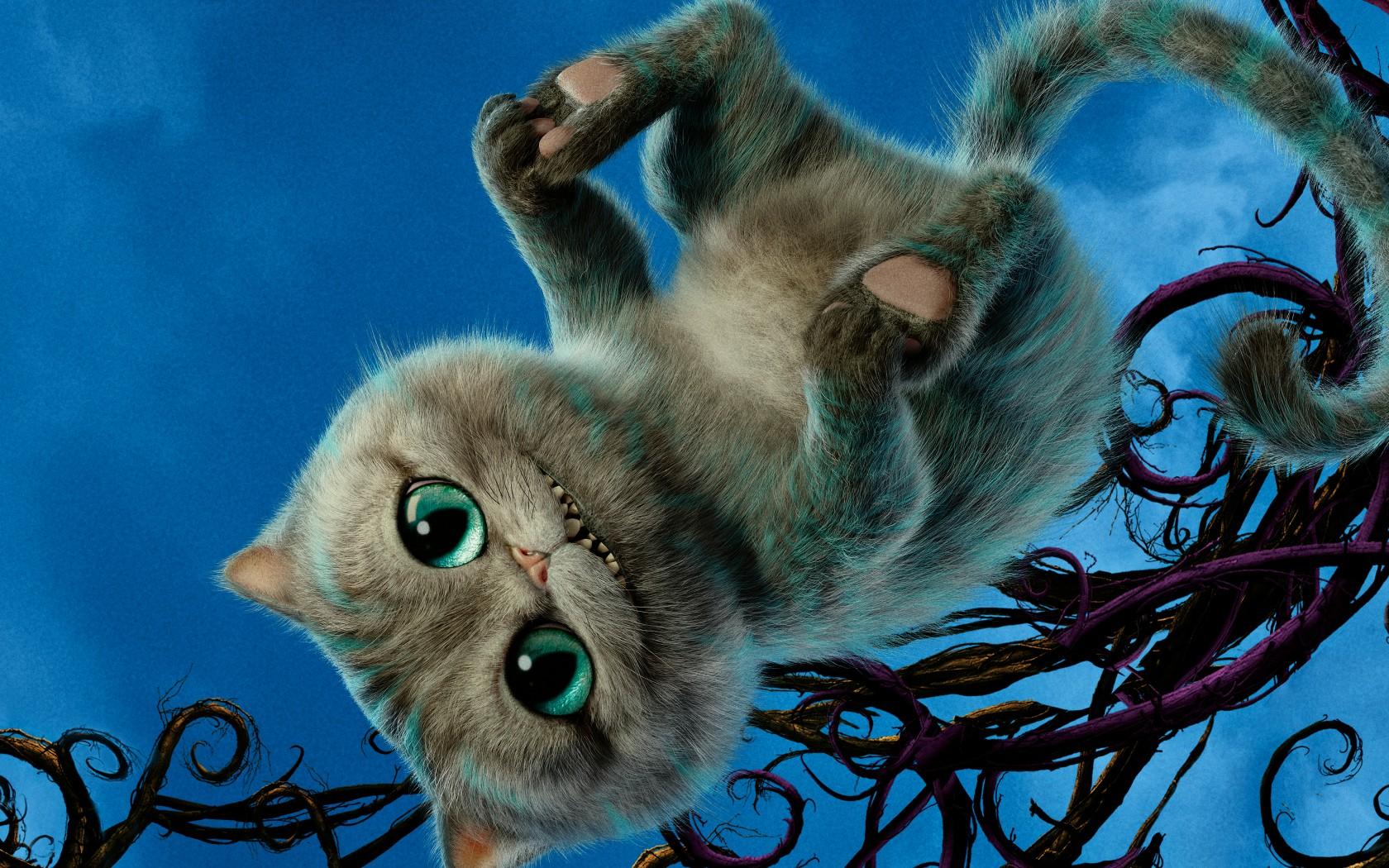 Sfondi illustrazione gatto cheshire cat blu barba alice attraverso lo specchio 2016 - Foto alice attraverso lo specchio ...