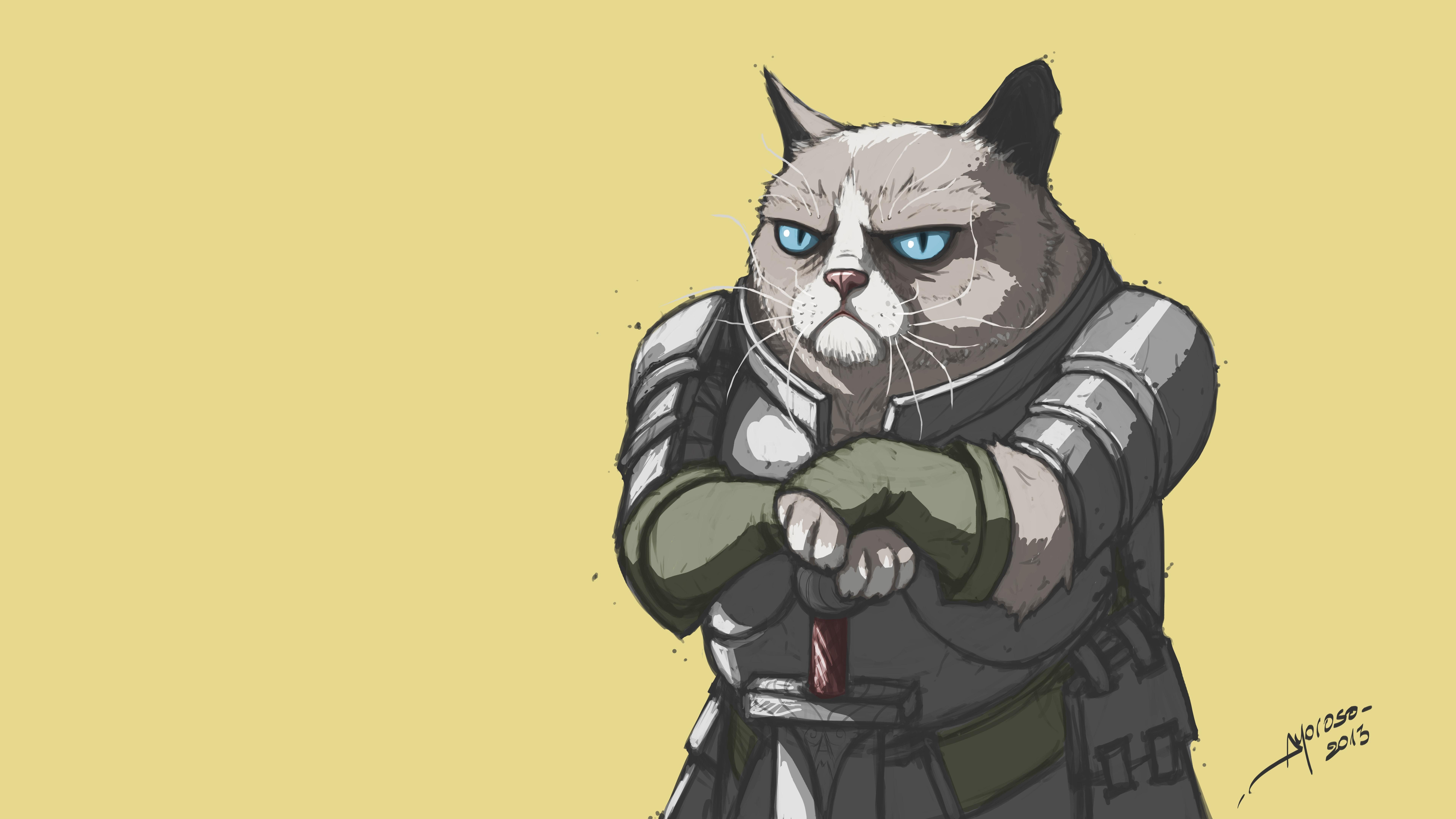 Wallpaper Ilustrasi Gambar Kartun Kucing Pemarah Ned