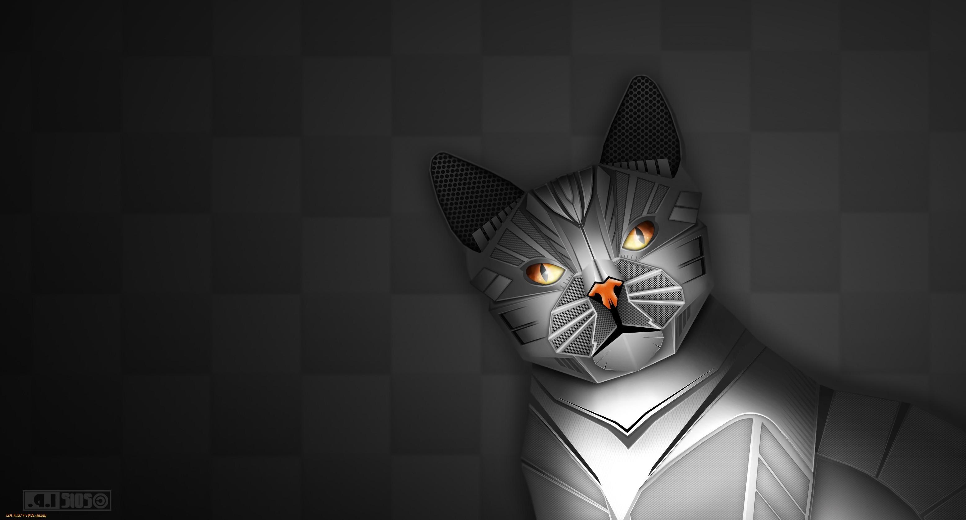 デスクトップ壁紙 図 ネコ ロボット アンドロイド 闇 スクリーンショット コンピュータの壁紙 黒と白 モノクロ写真 哺乳動物のような猫 3113x1676 Px 3113x1676 Wallhaven デスクトップ壁紙 Wallhere