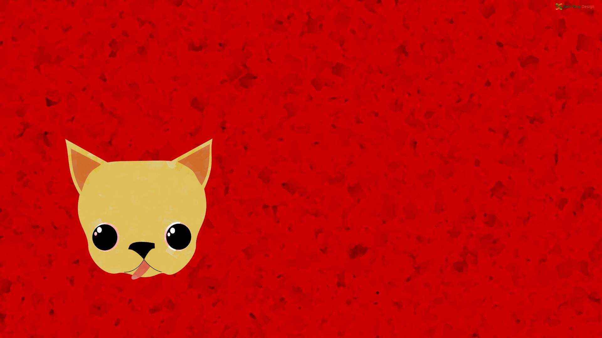 Fondos De Pantalla : Ilustración, Gato, Rojo, Dibujos