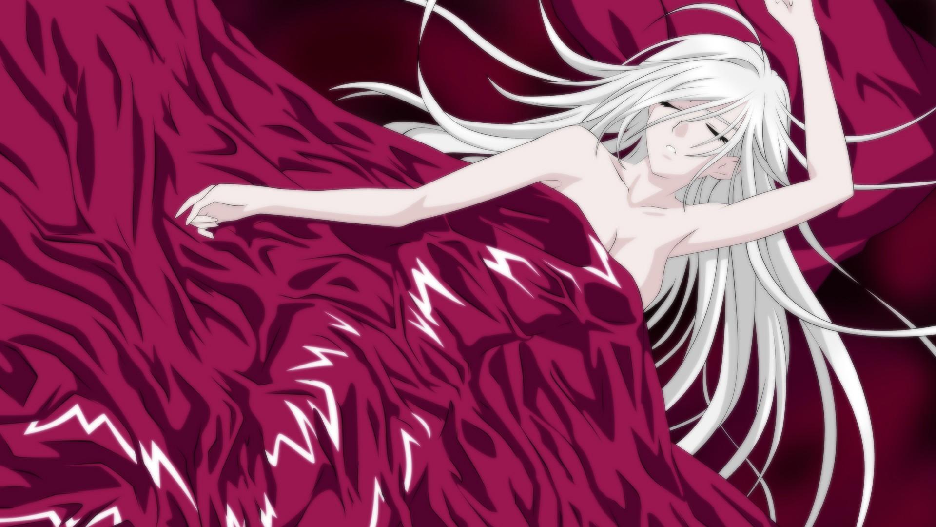Wallpaper Illustration Closed Eyes Anime Girls Rosario