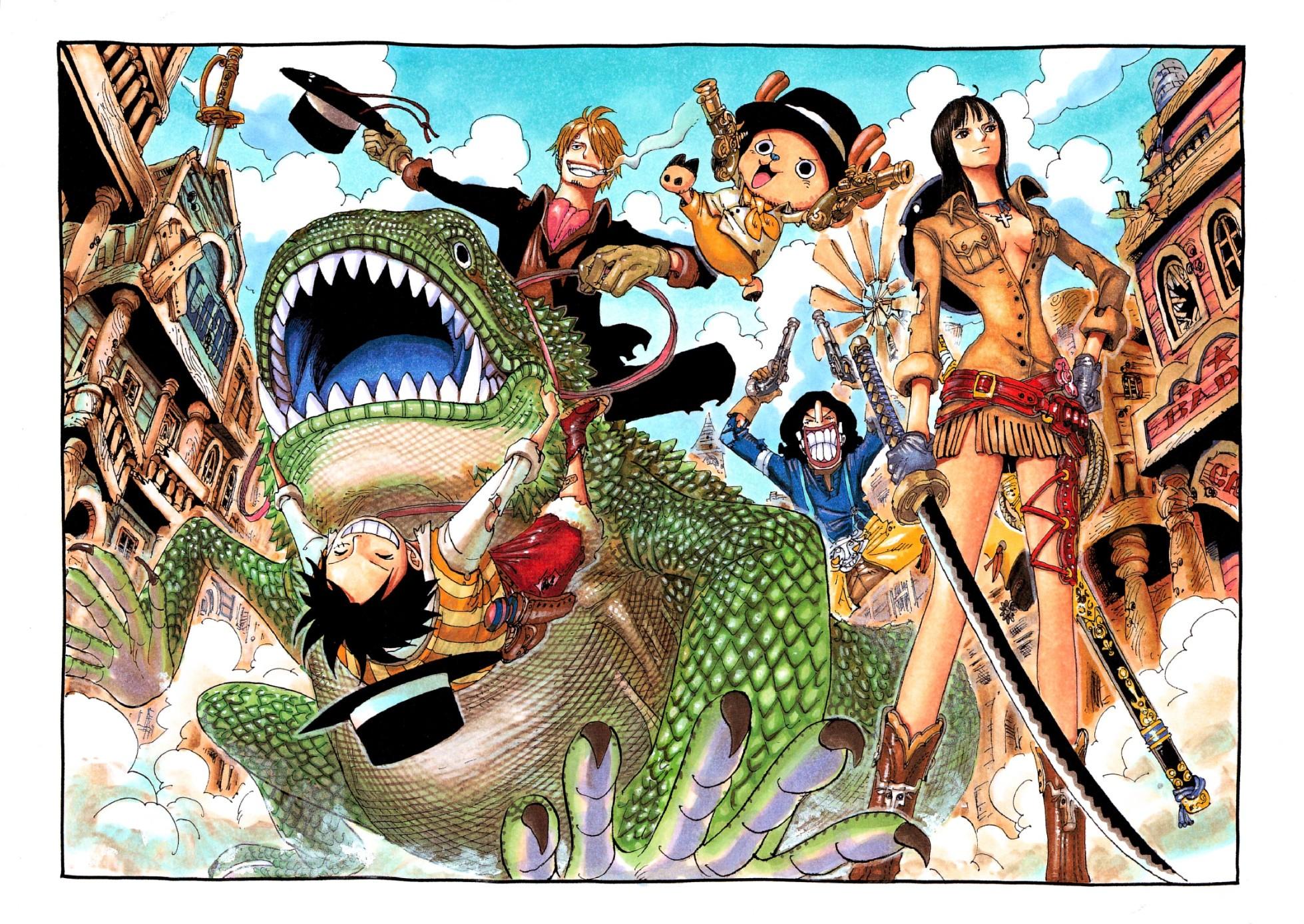 Wallpaper Illustration Collage Cartoon One Piece Sanji Monkey