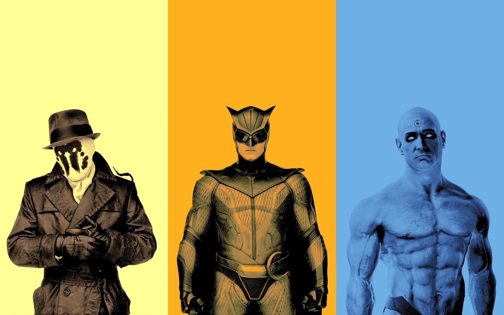 Wallpaper Illustration Collage Movies Cartoon Superhero Comics Watchmen Rorschach Dr Manhattan Nite Owl Screenshot 1680x1050 Cirit 212751 Hd Wallpapers Wallhere