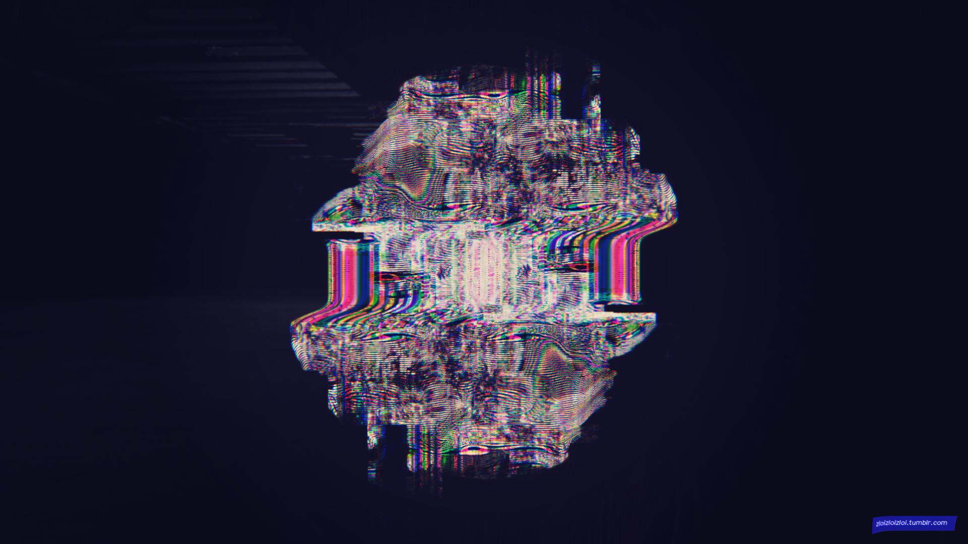 Sfondi : illustrazione buio notte astratto glitch art simmetria