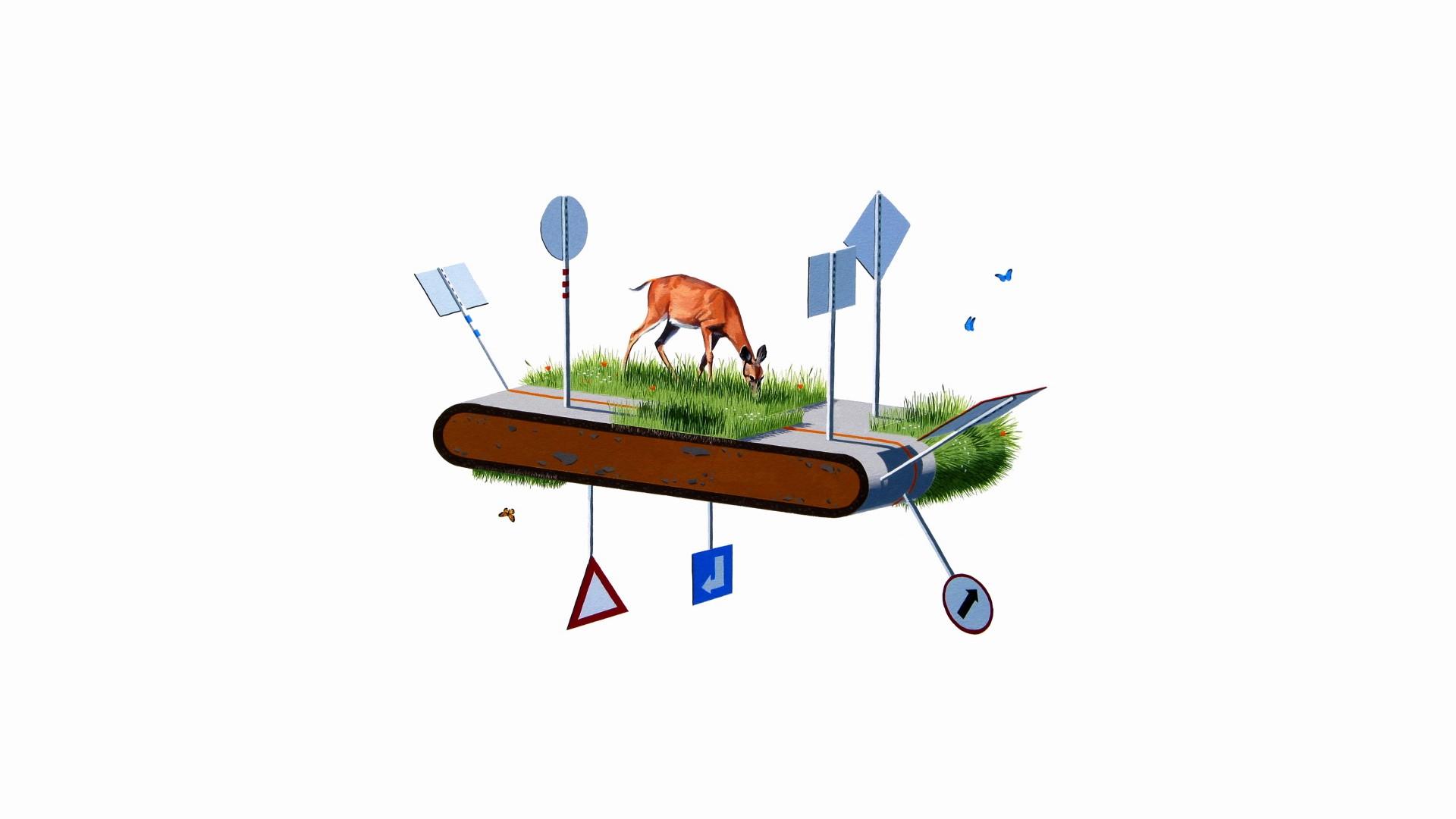 Fondos De Pantalla Ilustraci N Ciervo Arte Digital Animales  # Muebles Dibujos Animados