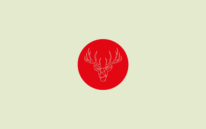 Wallpaper : illustration, deer, red, artwork, text, logo ...