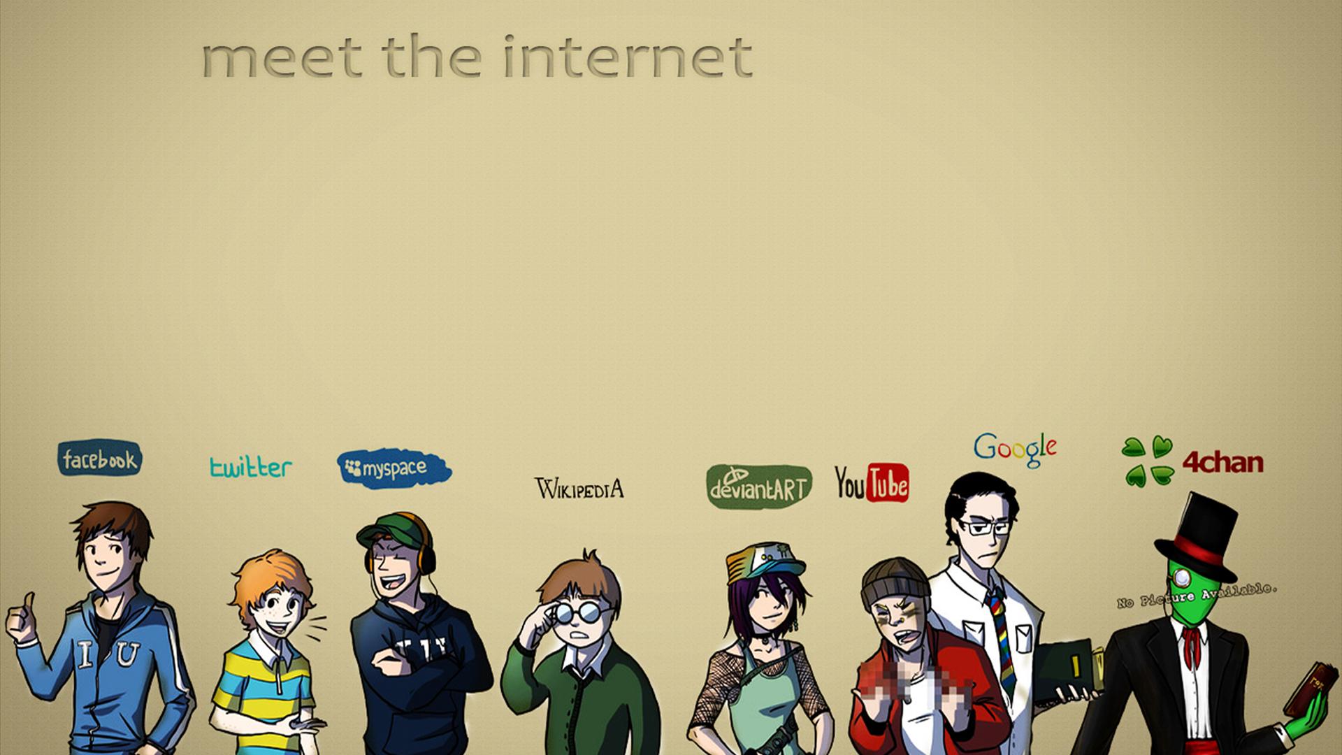 Illustration digital art deviantart internet youtube cartoon 4chan brand facebook twitter google wikipedia myspace presentation