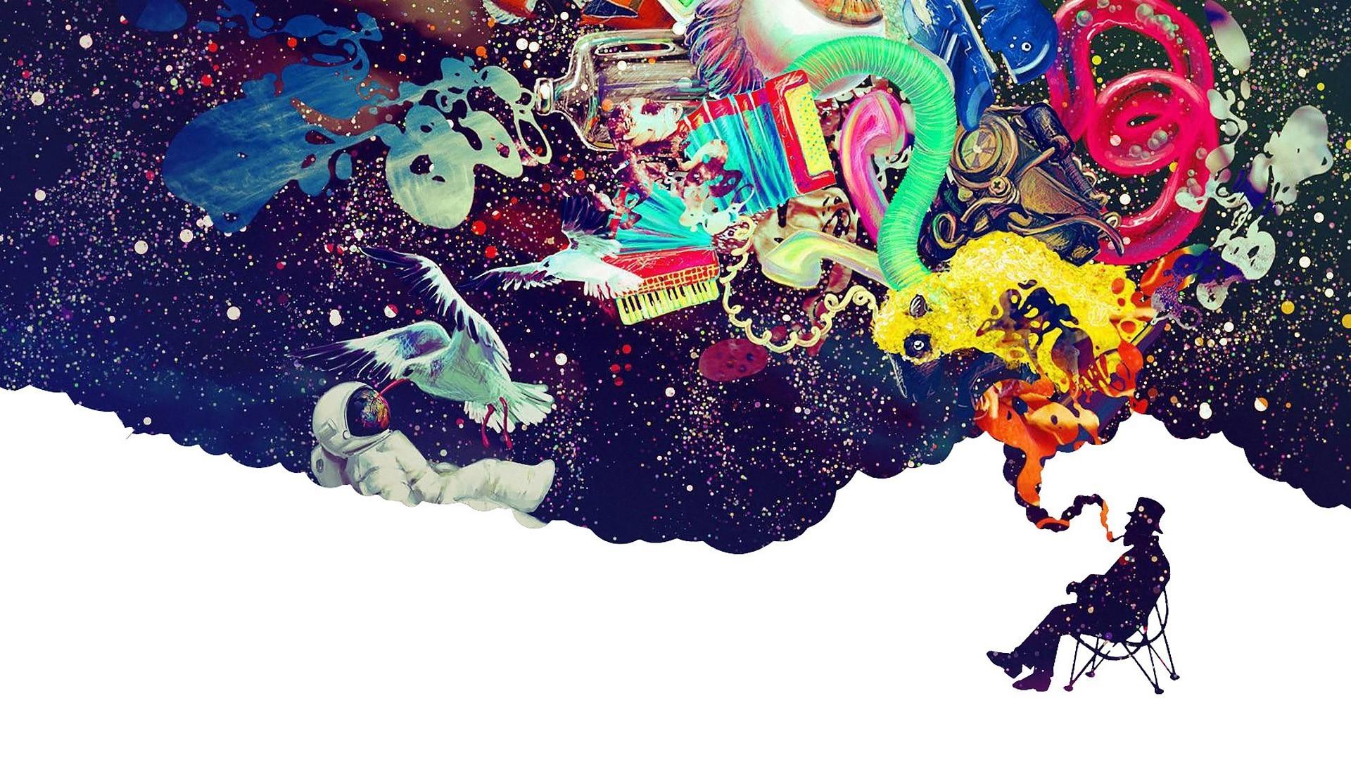 Wallpaper Illustration Digital Art Abstract Space