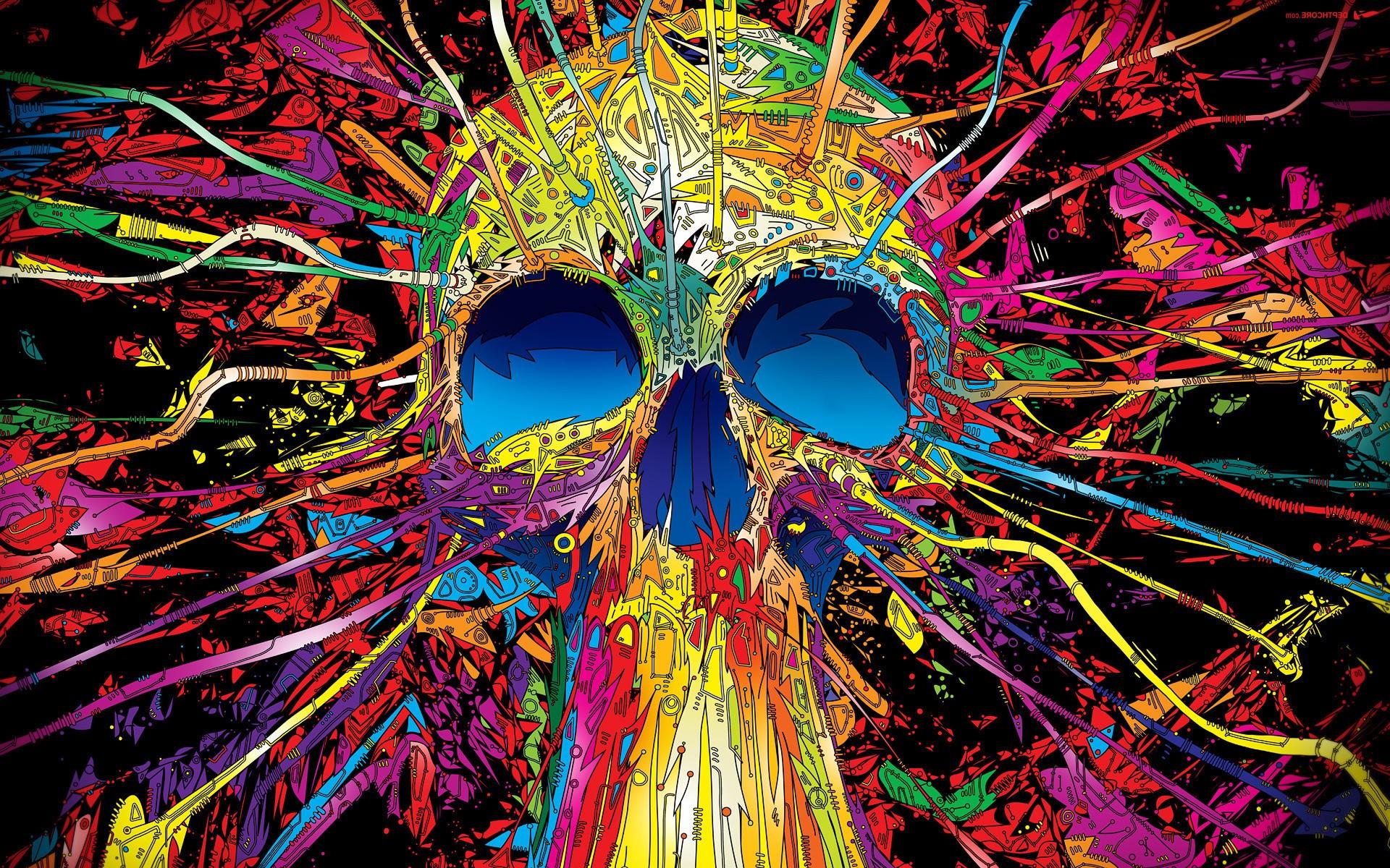 Wallpaper Illustration Digital Art Anime Abstract Artwork Symmetry Graphic Design Pattern Skull Matei Apostolescu Carnival Art Graphics 1920x1200 Px Computer Wallpaper Fractal Art Special Effects Psychedelic Art Organism 1920x1200
