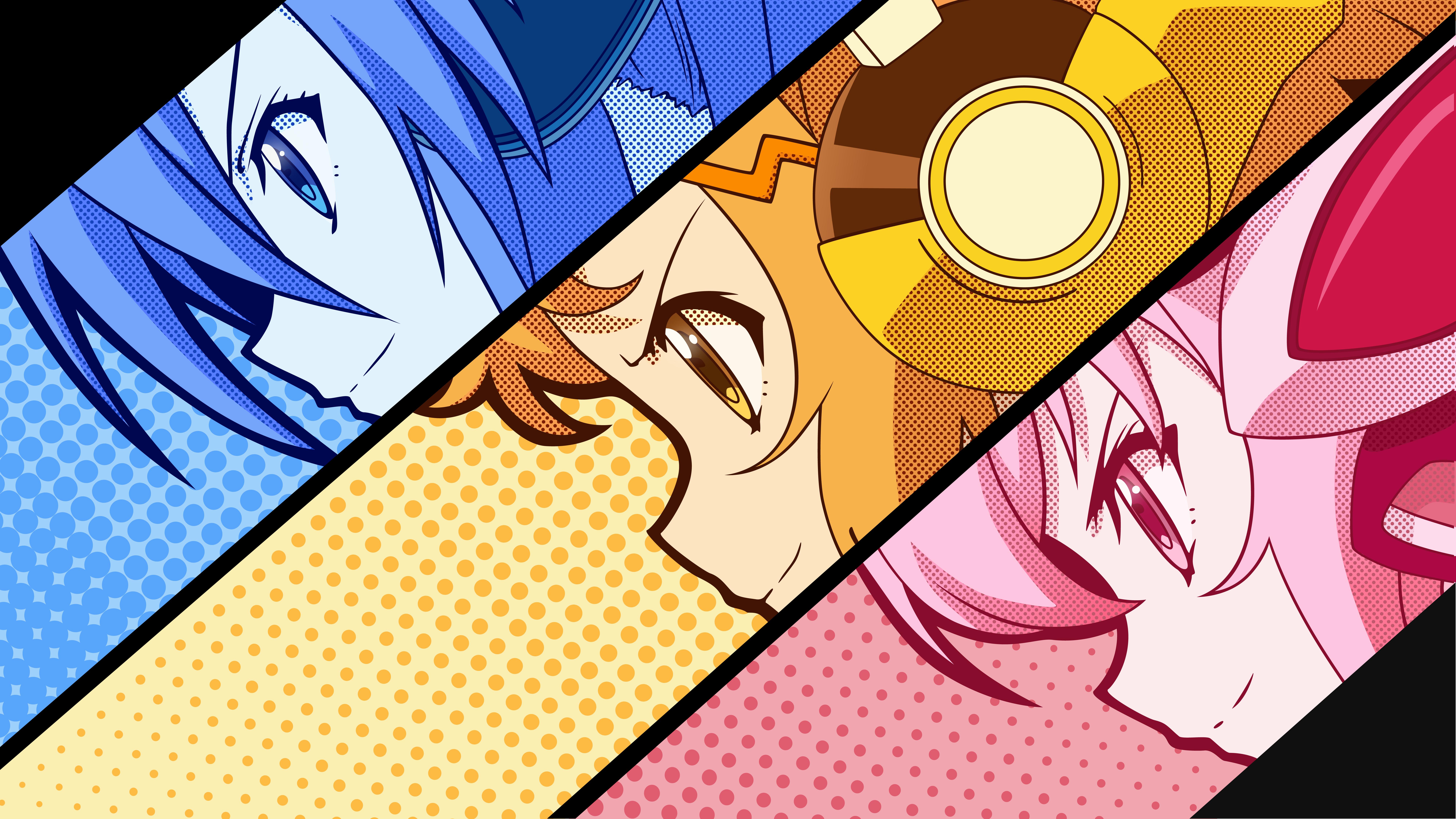 Illustration Digital Art Anime Anime Girls Collage Manga Cartoon Comics Vector Art Senki Zesshou Symphogear Kazanari