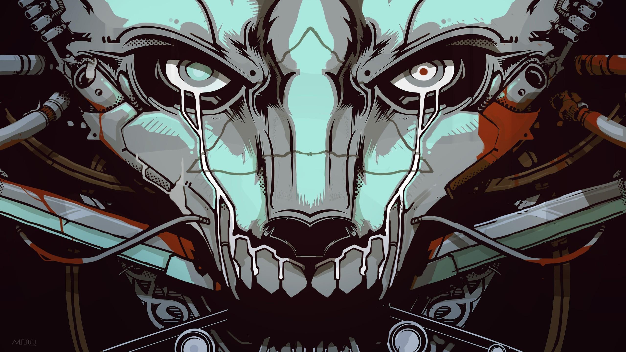 Wallpaper Illustration Digital Art Cyberpunk Anime Robot Futuristic Music Graphic Design Skull Cyborg Machine Art Graphics Mecha 2560x1440 Px Computer Wallpaper Fictional Character Font Fiction Supervillain Cg Artwork 2560x1440,Custom Pools By Design