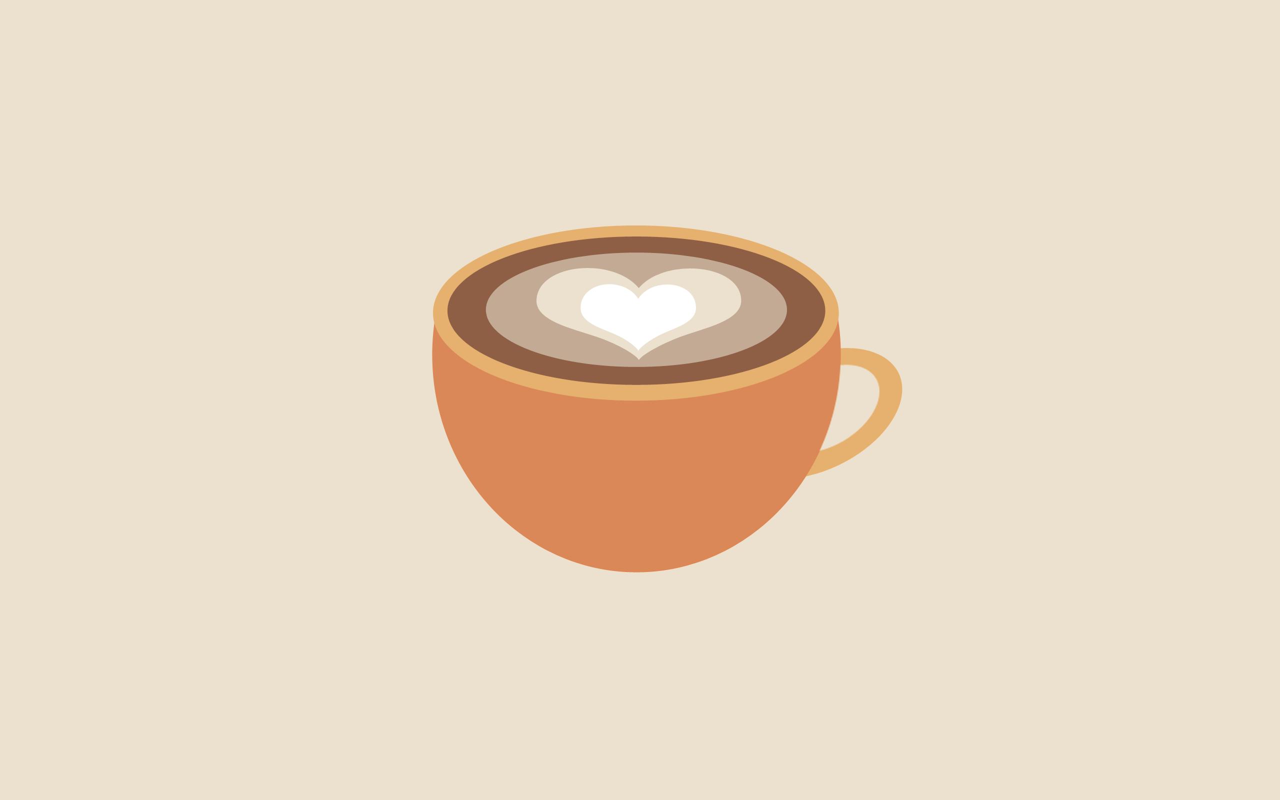 Wallpaper : illustration, digital art, minimalism, drink, simple, espresso, caffeine, hand ...